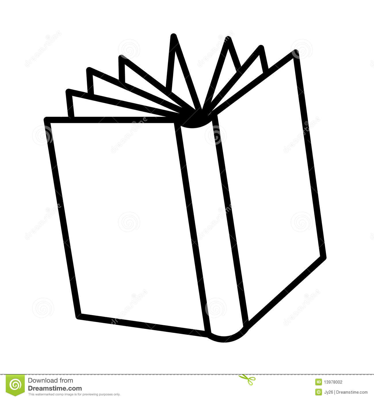 Open Book Drawing Stock Vector Illustration Of Line