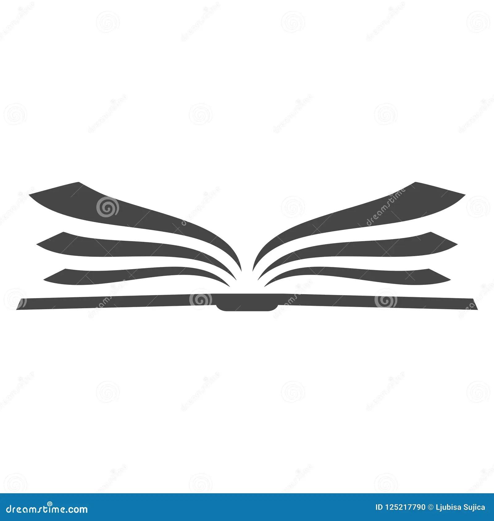 Open Book Logo Book Icon Simple Vector Logo Stock Vector