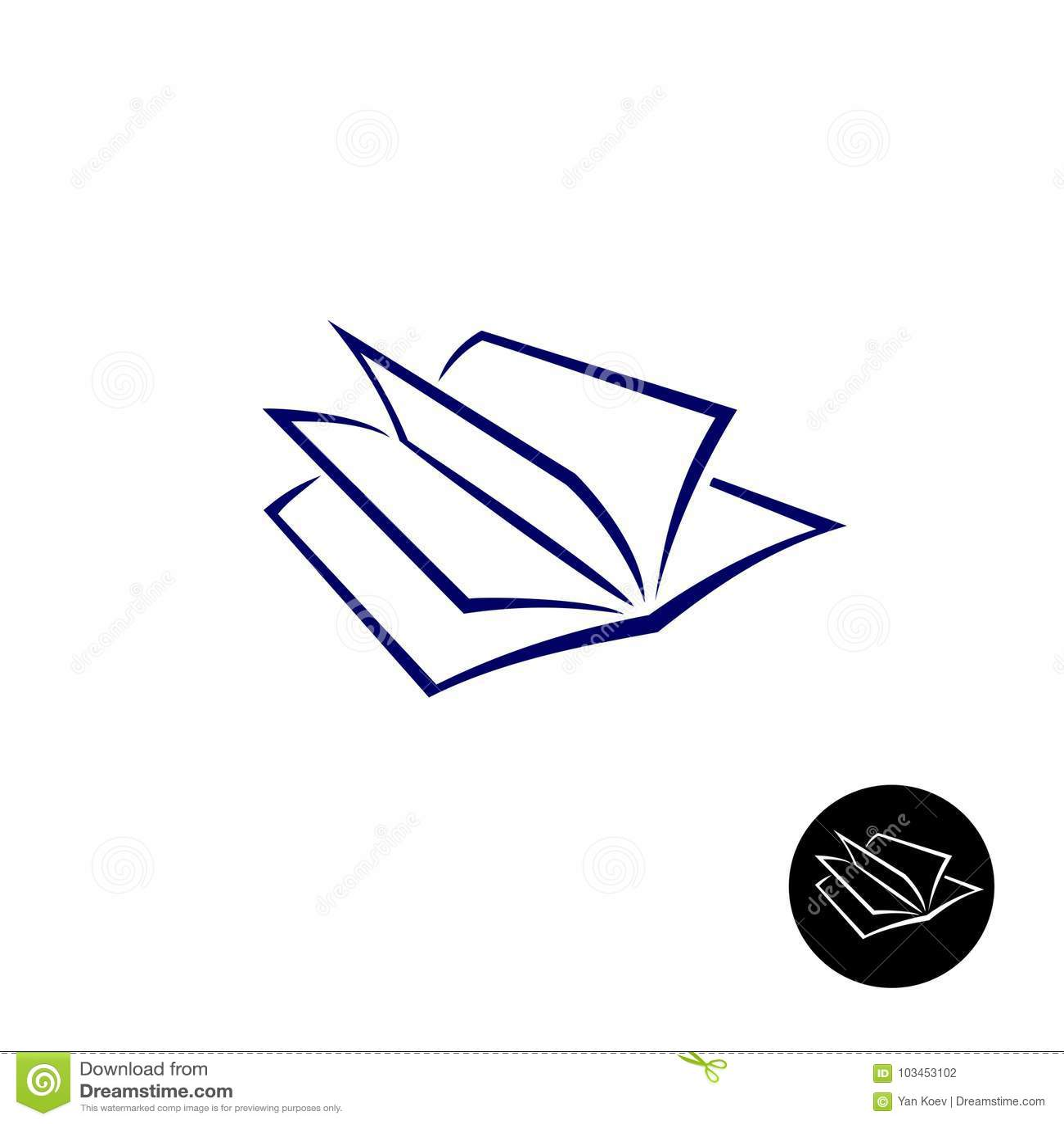Open Book Logo Stock Vector Illustration Of Bookstore