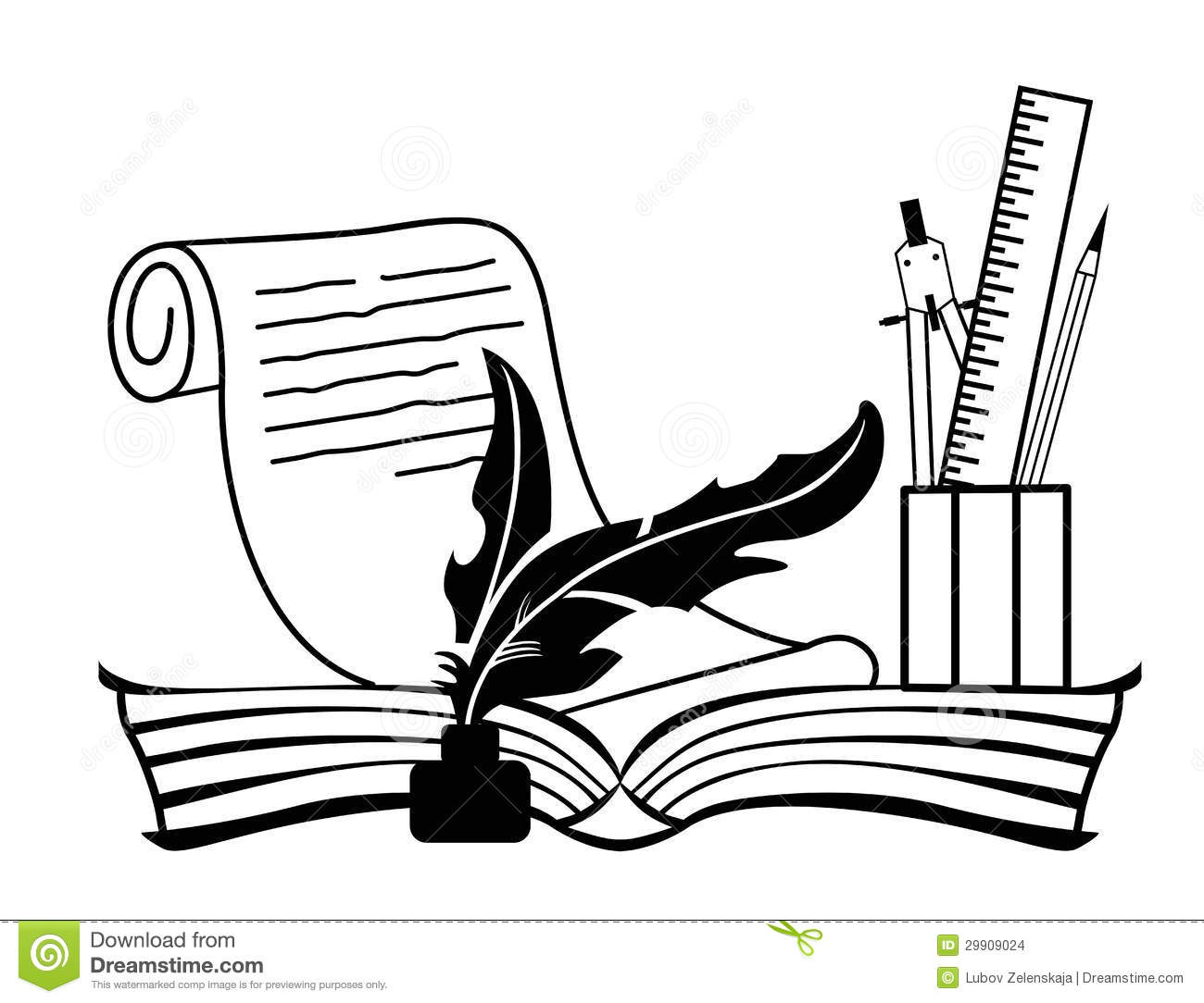 Book And Pen Stock Vector Image Of Illustration Paper