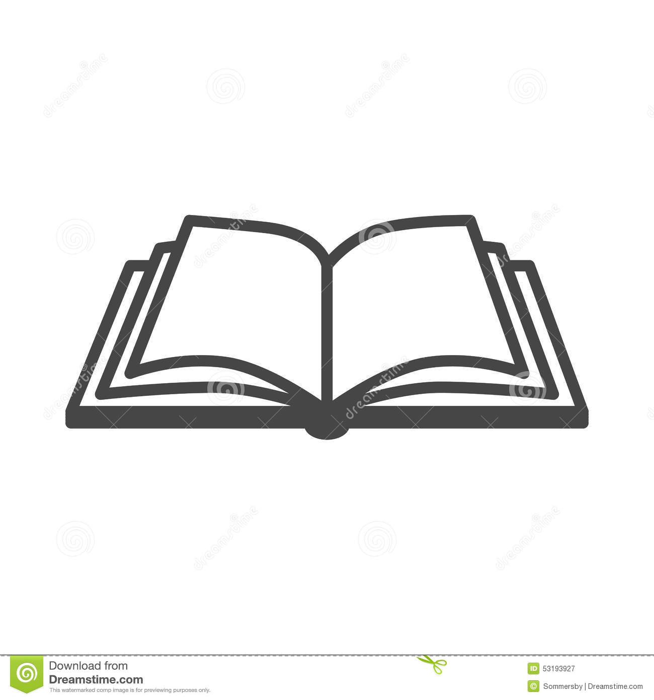 Open Book Vector Icon Stock Vector Illustration Of