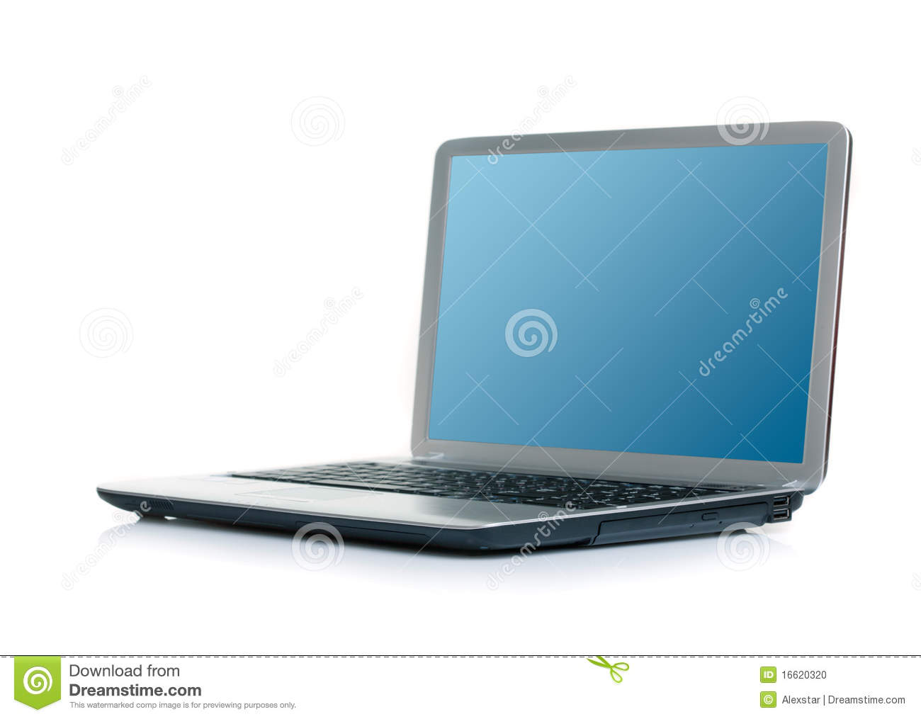 Open Laptop With Tools Isolated On White Background
