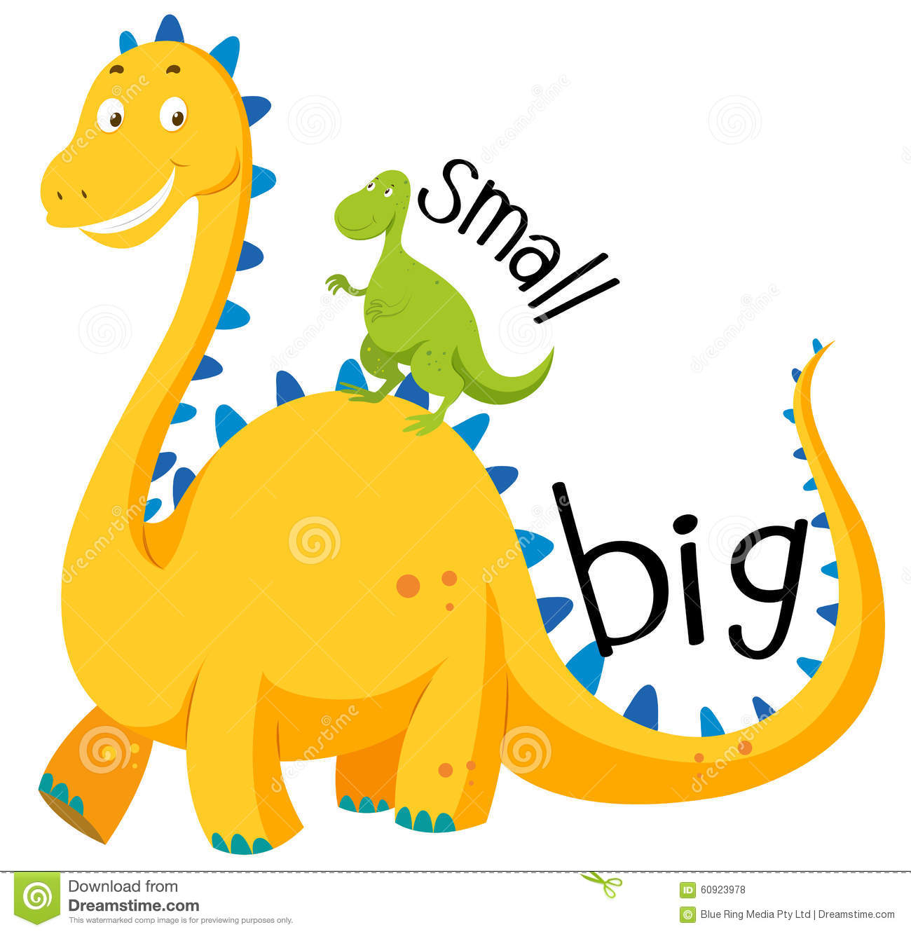 Opposite Adjective Big And Small Stock Vector