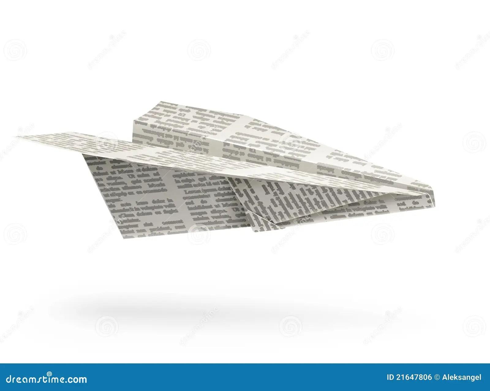 Origami Dell Aeroplano Di Carta Illustrazione Vettoriale