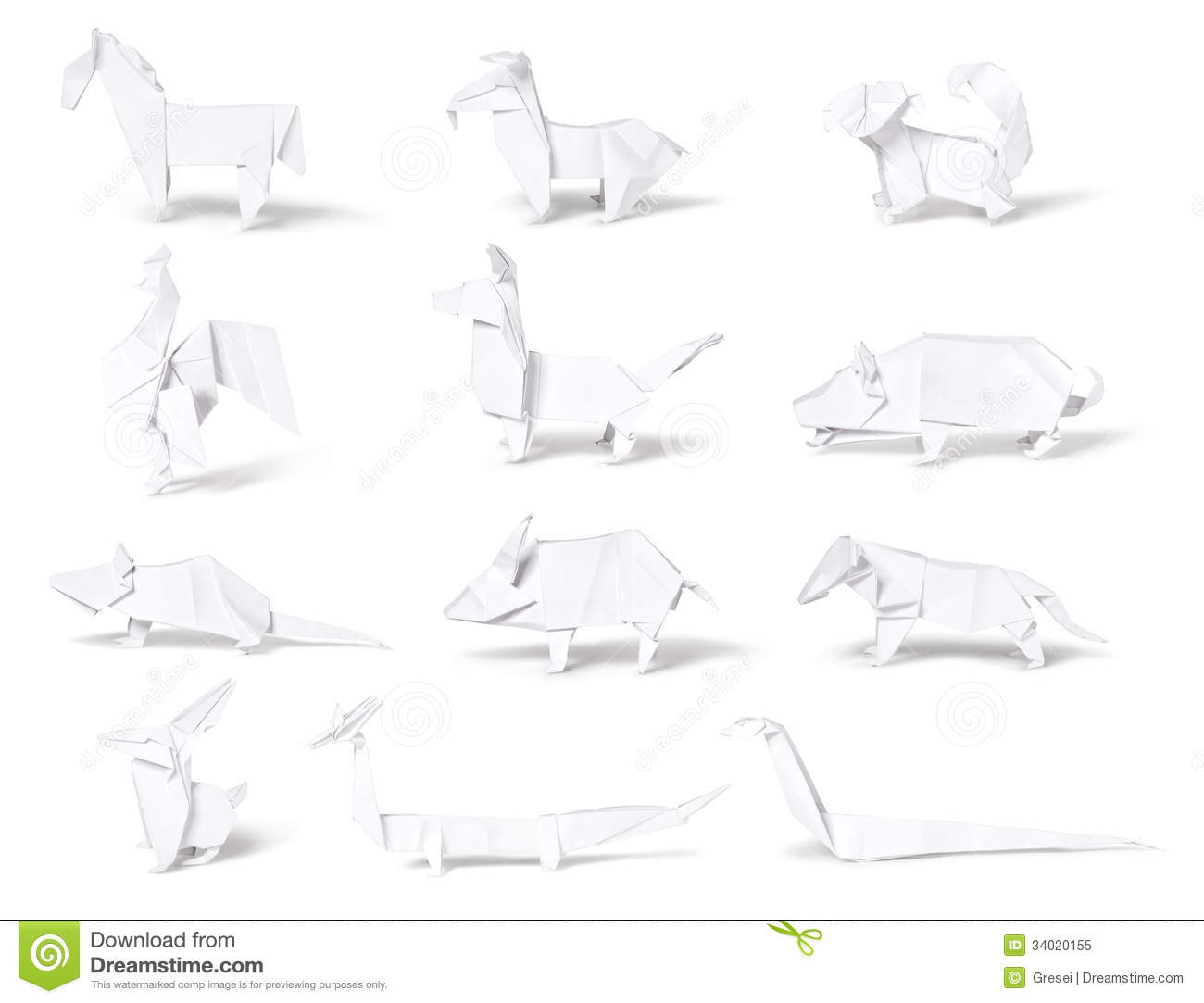 Origami Paper Chinese Zodiac Royalty Free Stock Photo