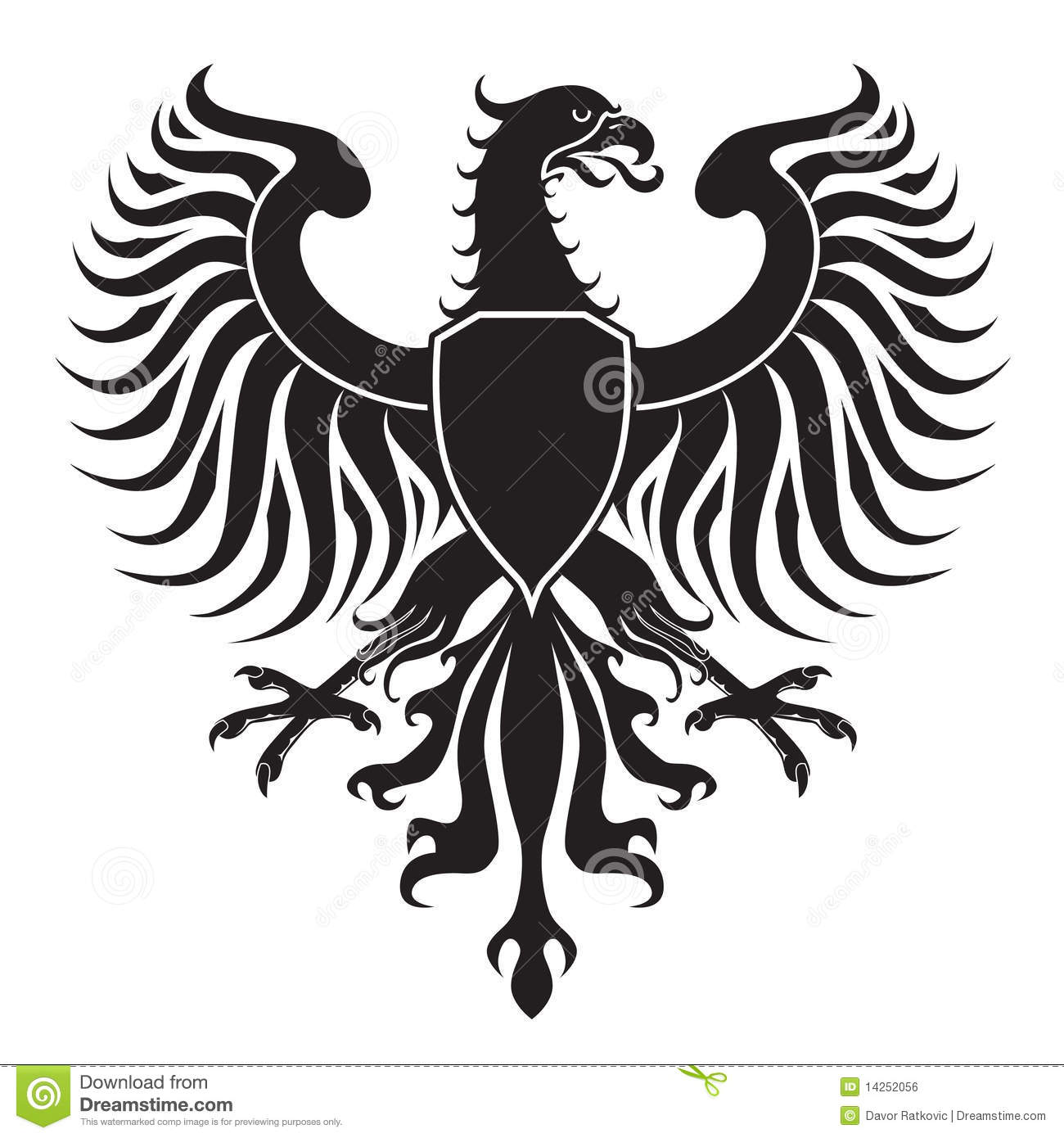 Original Eagle Crest Stock Vector Illustration Of