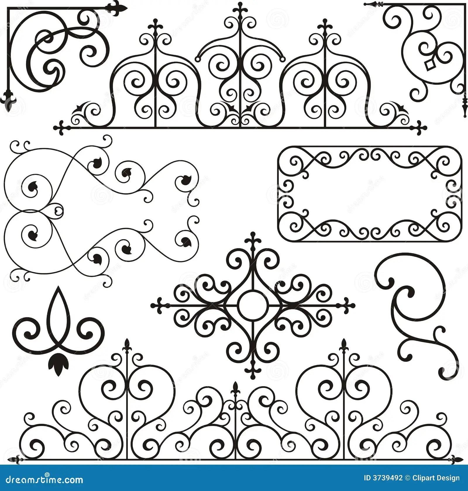 Ornamento Do Ferro De Wrough Ilustracao Do Vetor