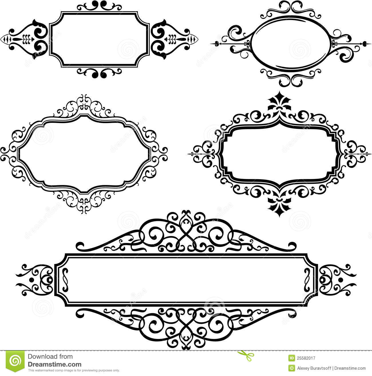 Ornate Borders Stock Vector Illustration Of Parchment