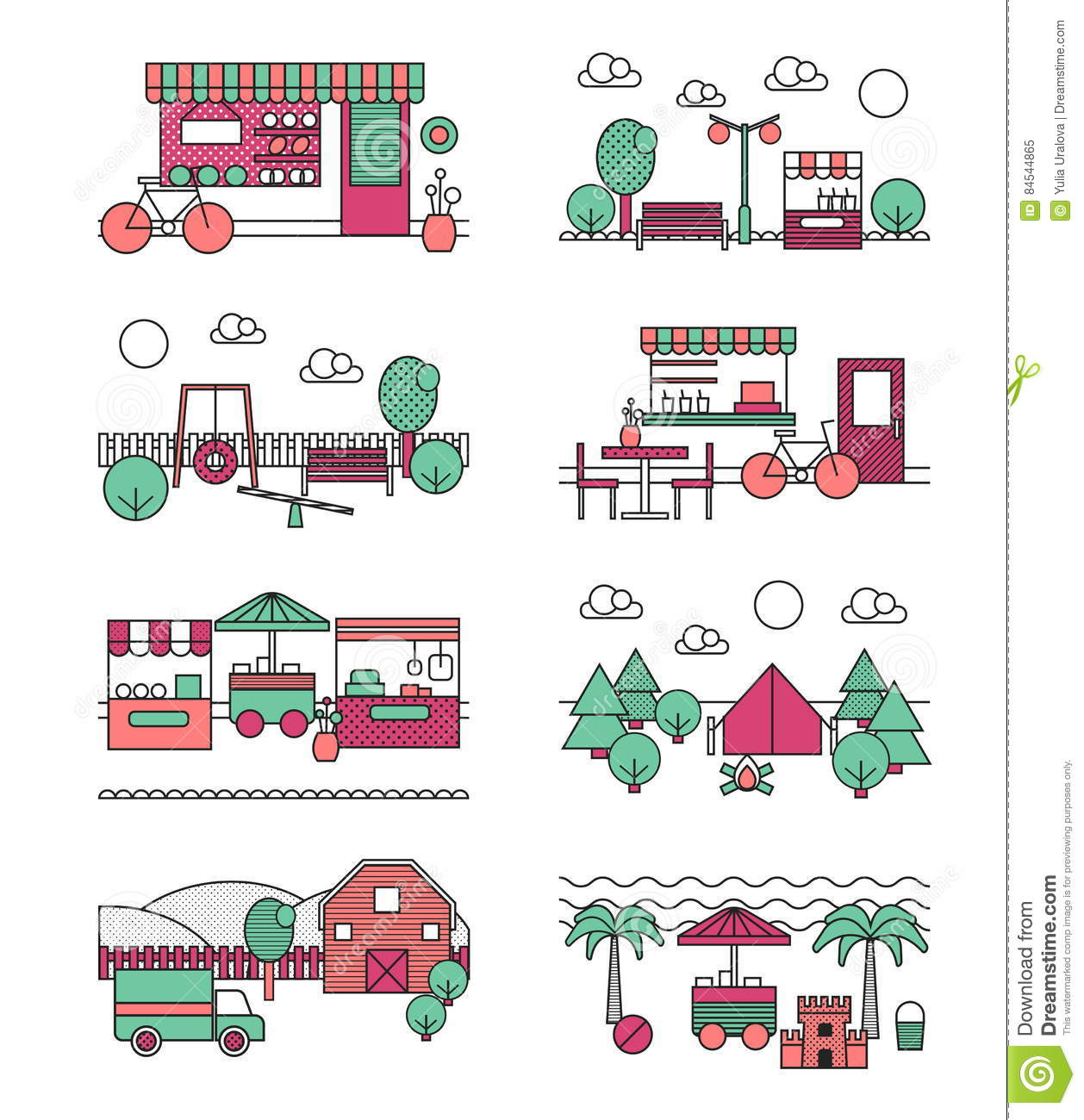 Outdoor Activity Places Urban And Natural Landscapes