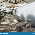 Outdoor Cafe Fast Food Restaurant Stock Photo Image Of Cafe Blank 193308988