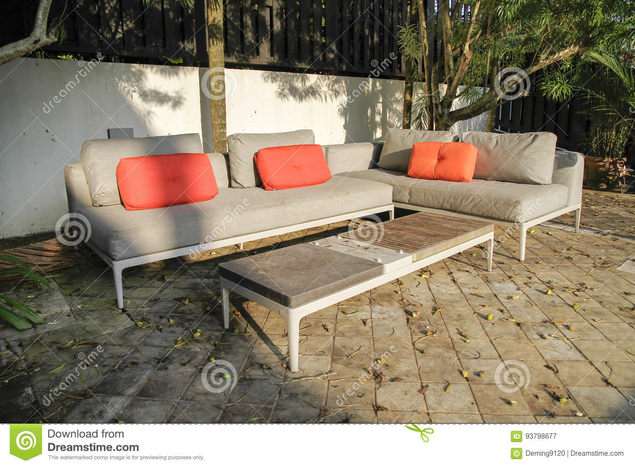 outdoor furniture stock image image of woof product 93798677