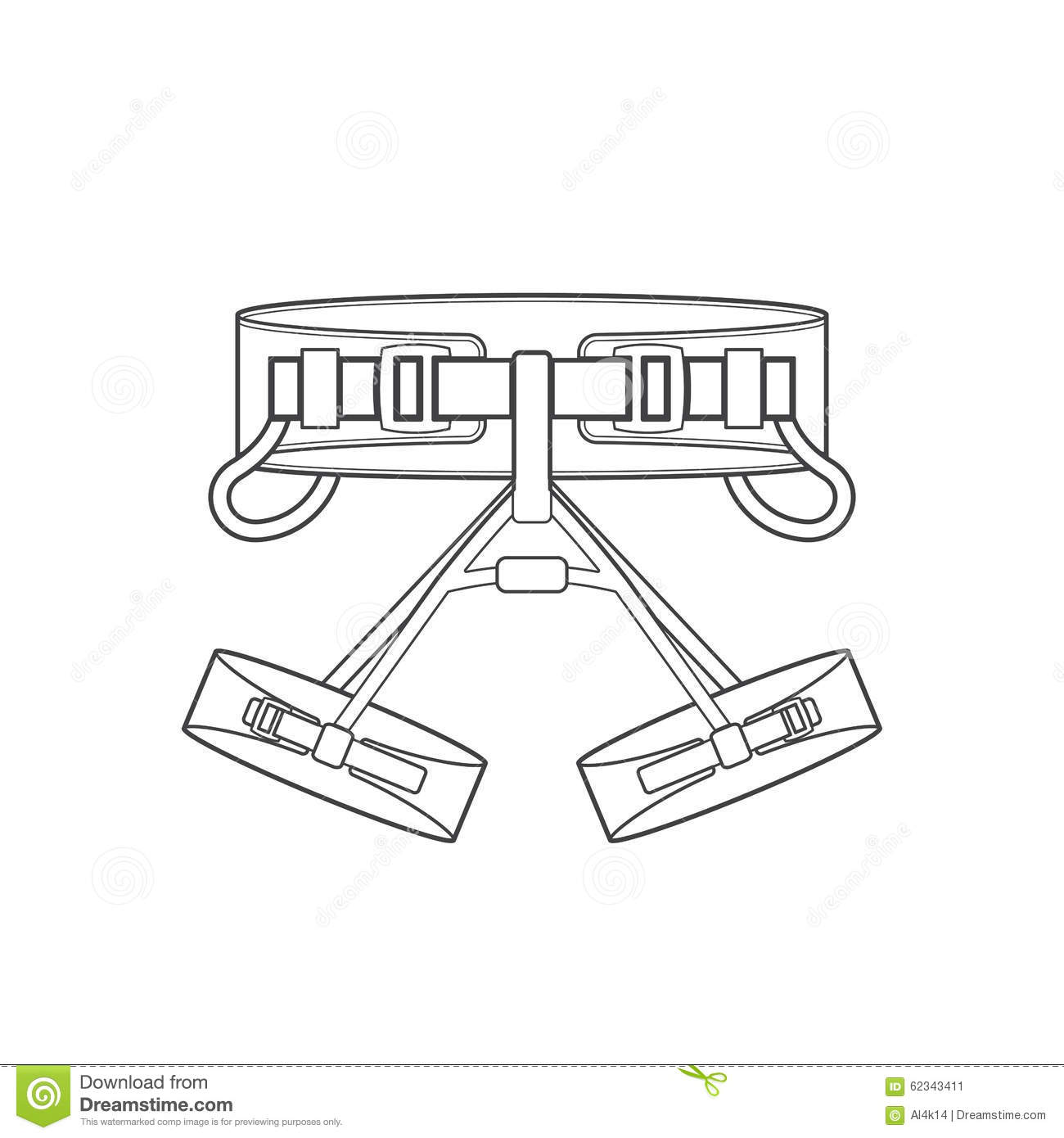 Outline Alpinism Equipment Harness Icon Illustration Stock Image