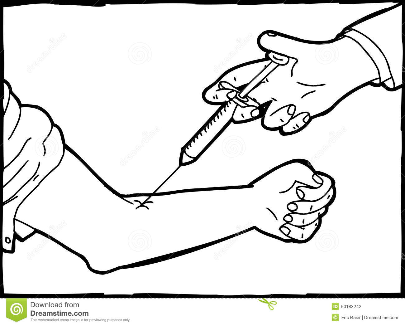 Hand With Syringe Stock Photos And Pictures