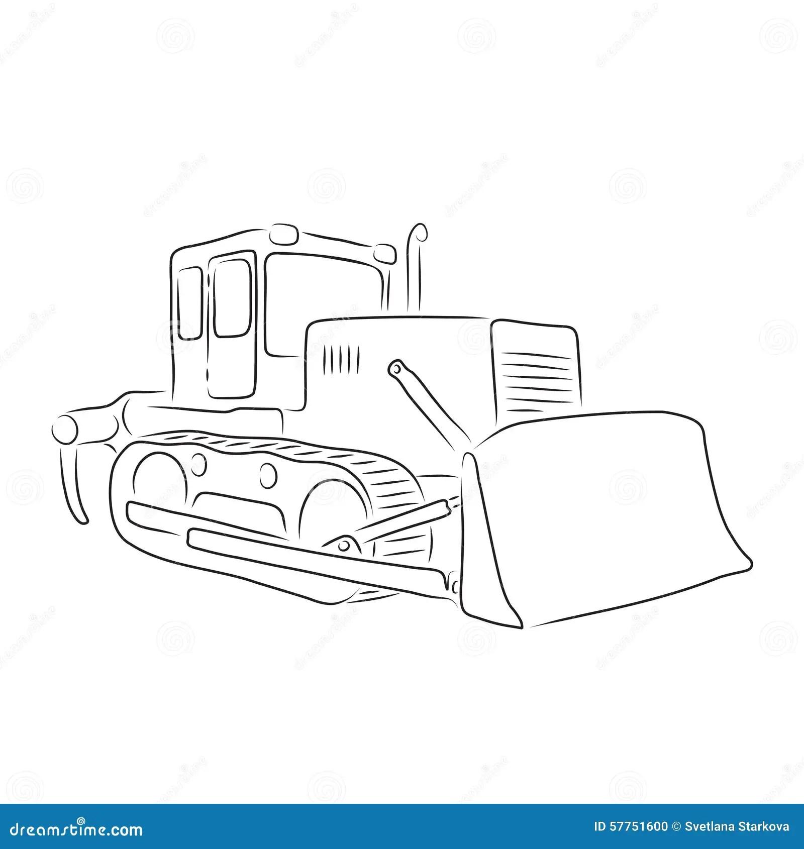 Bulldozer Vector Illustration Vector Illustration