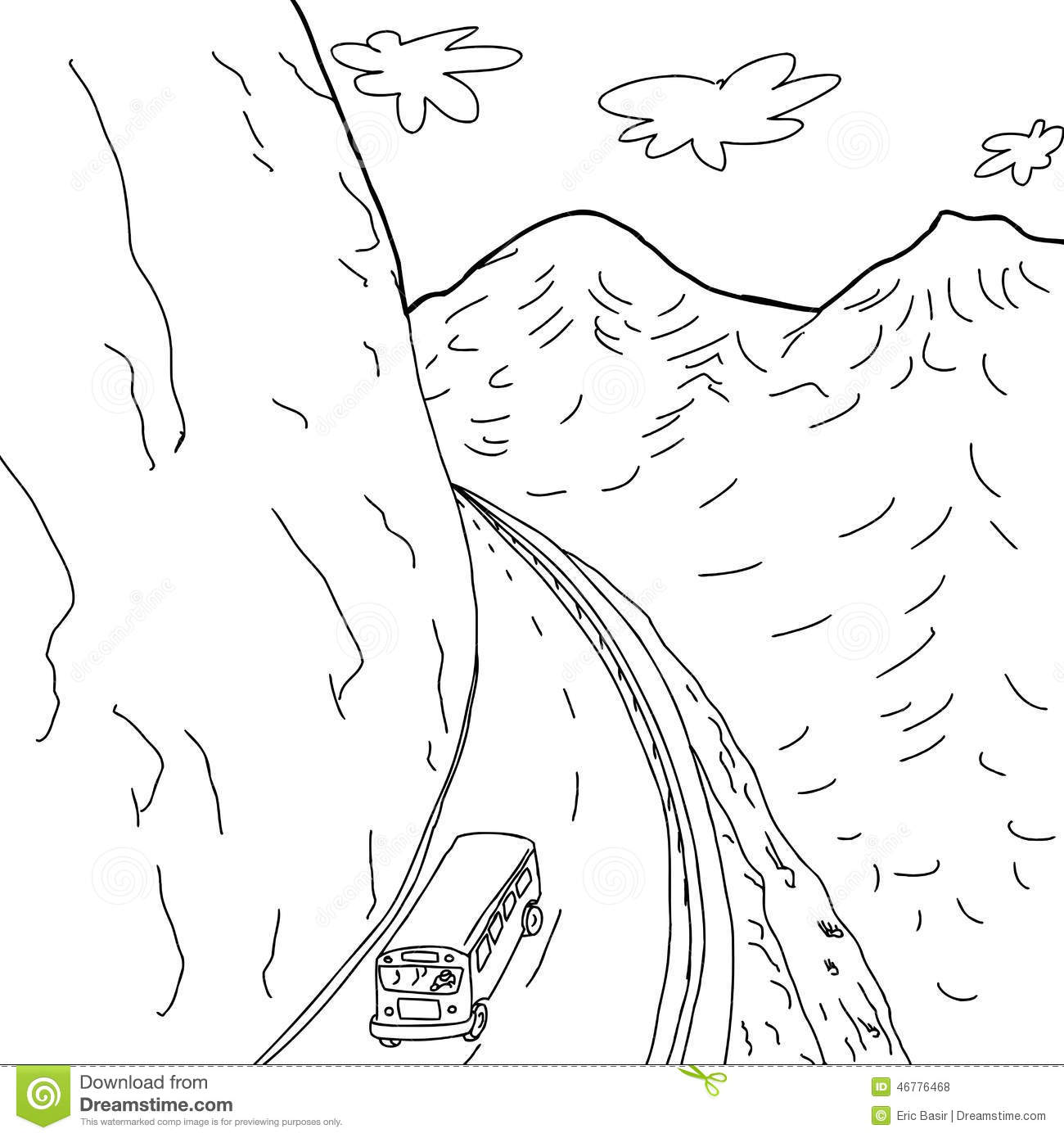 Car Driving Up Mountain
