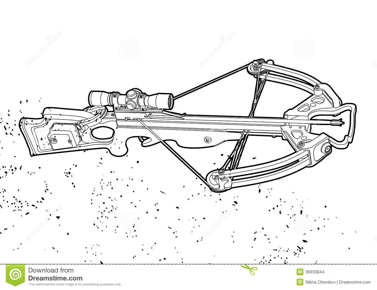 Outline Crossbow Stock Images