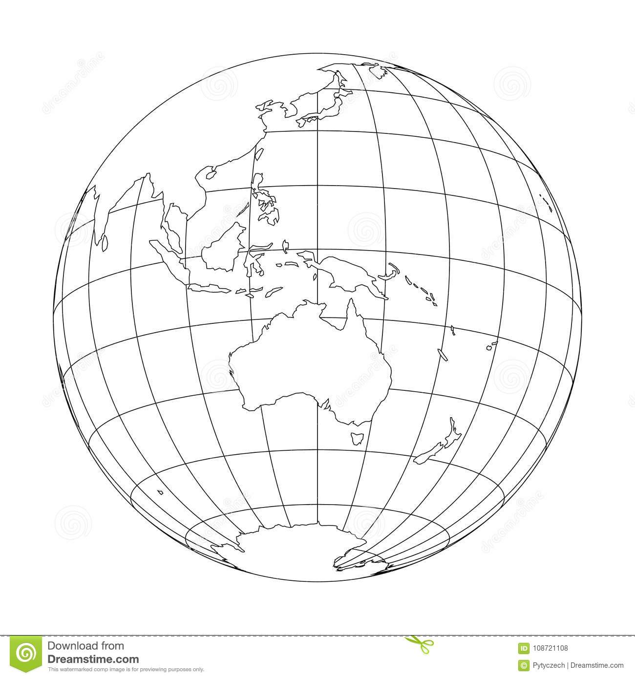 Globe Outline Stock Images