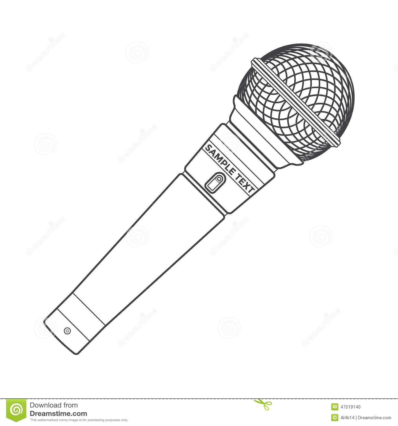 Outline Stage Microphone Stock Vector Illustration Of Arts