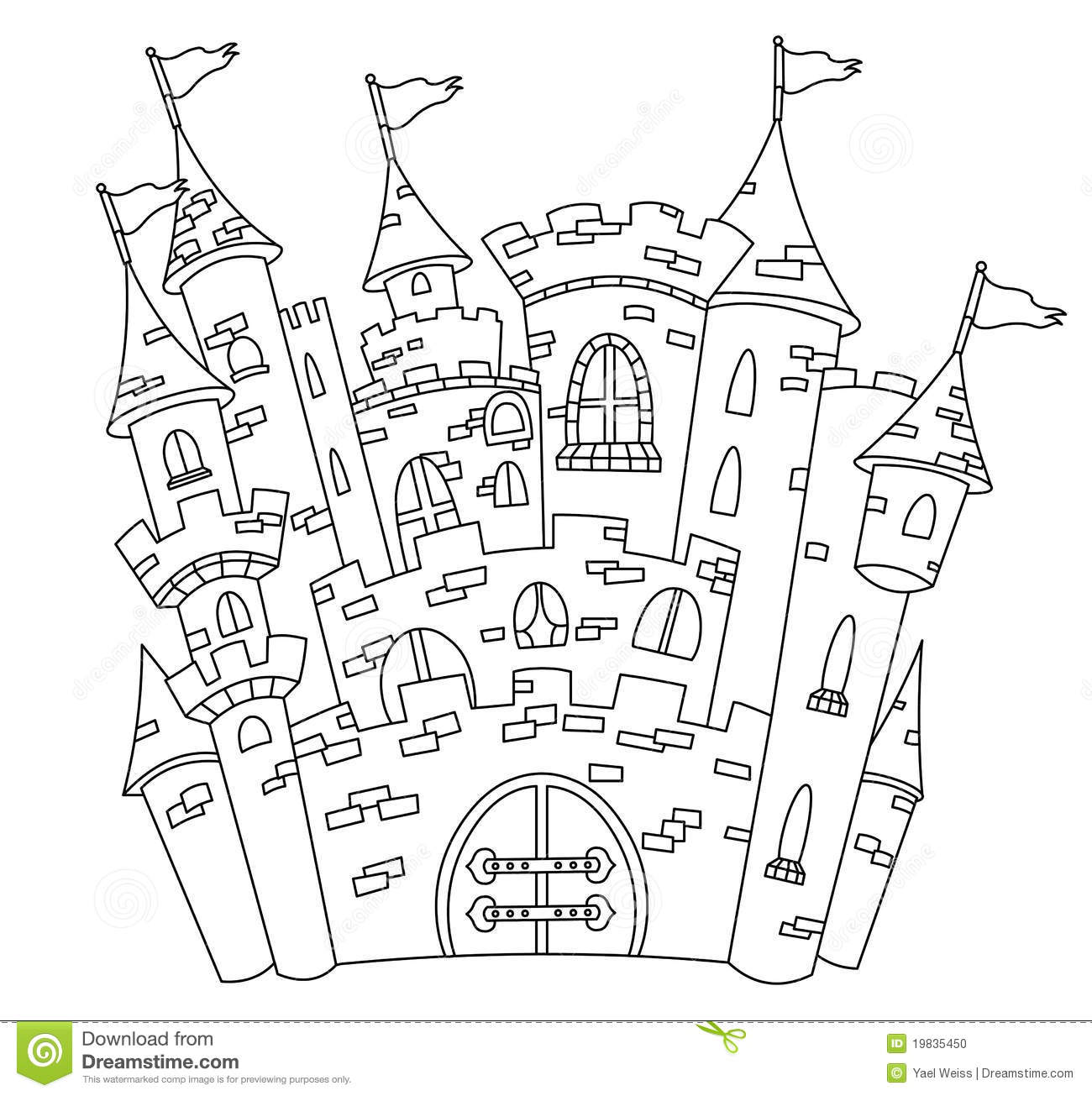 Outlined Castle Stock Photo