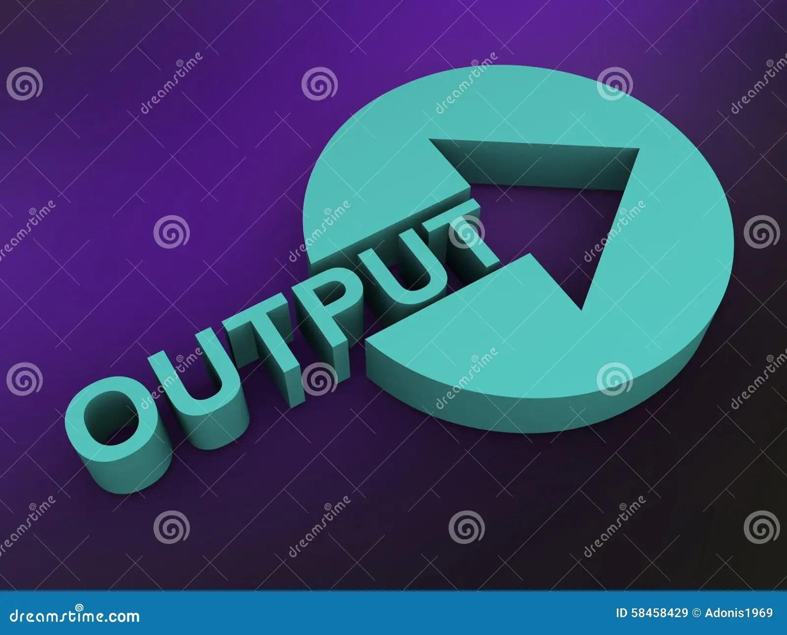 Output Stock Illustration Illustration Of Round Product
