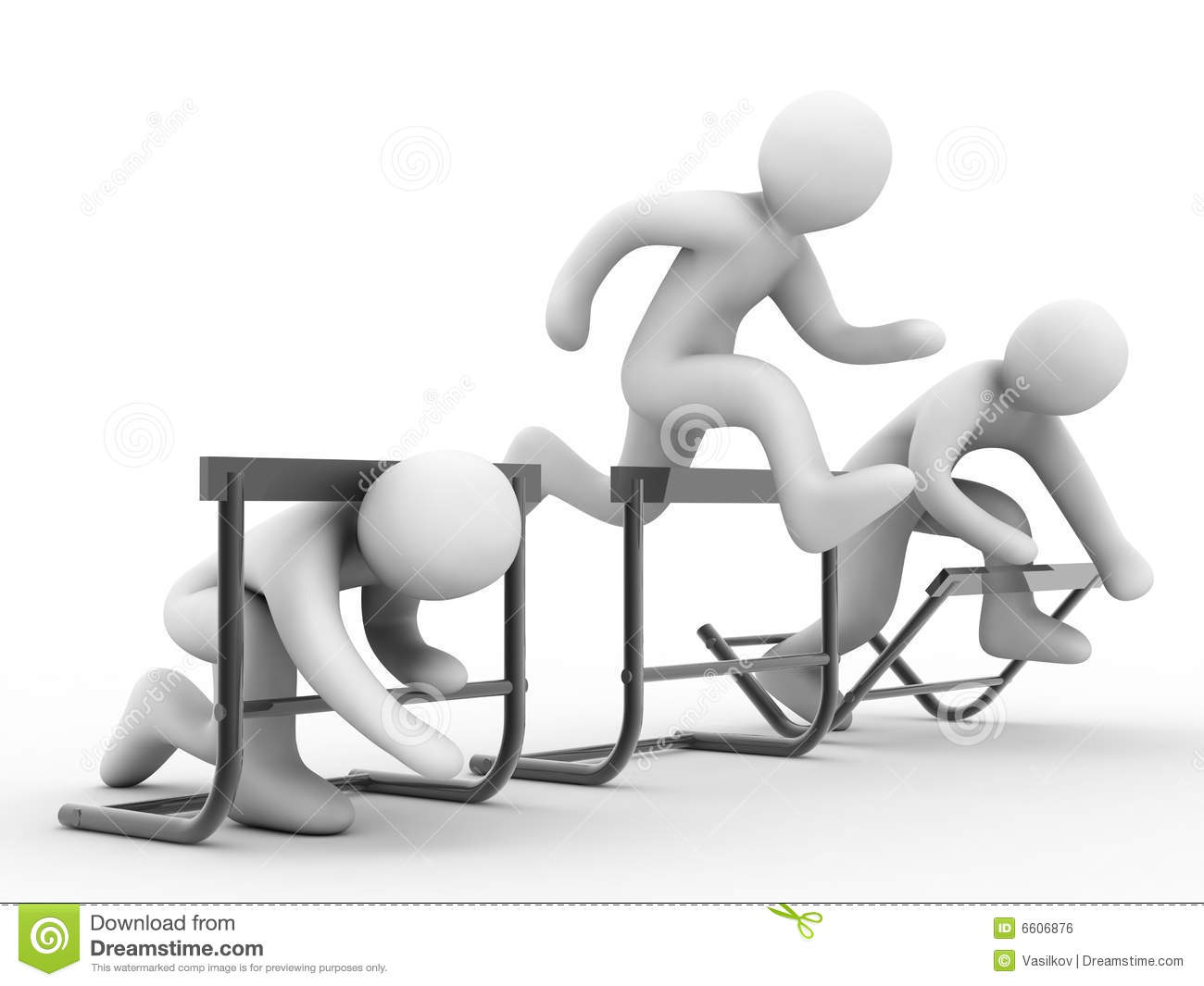 Overcome Barriers Royalty Free Stock Image