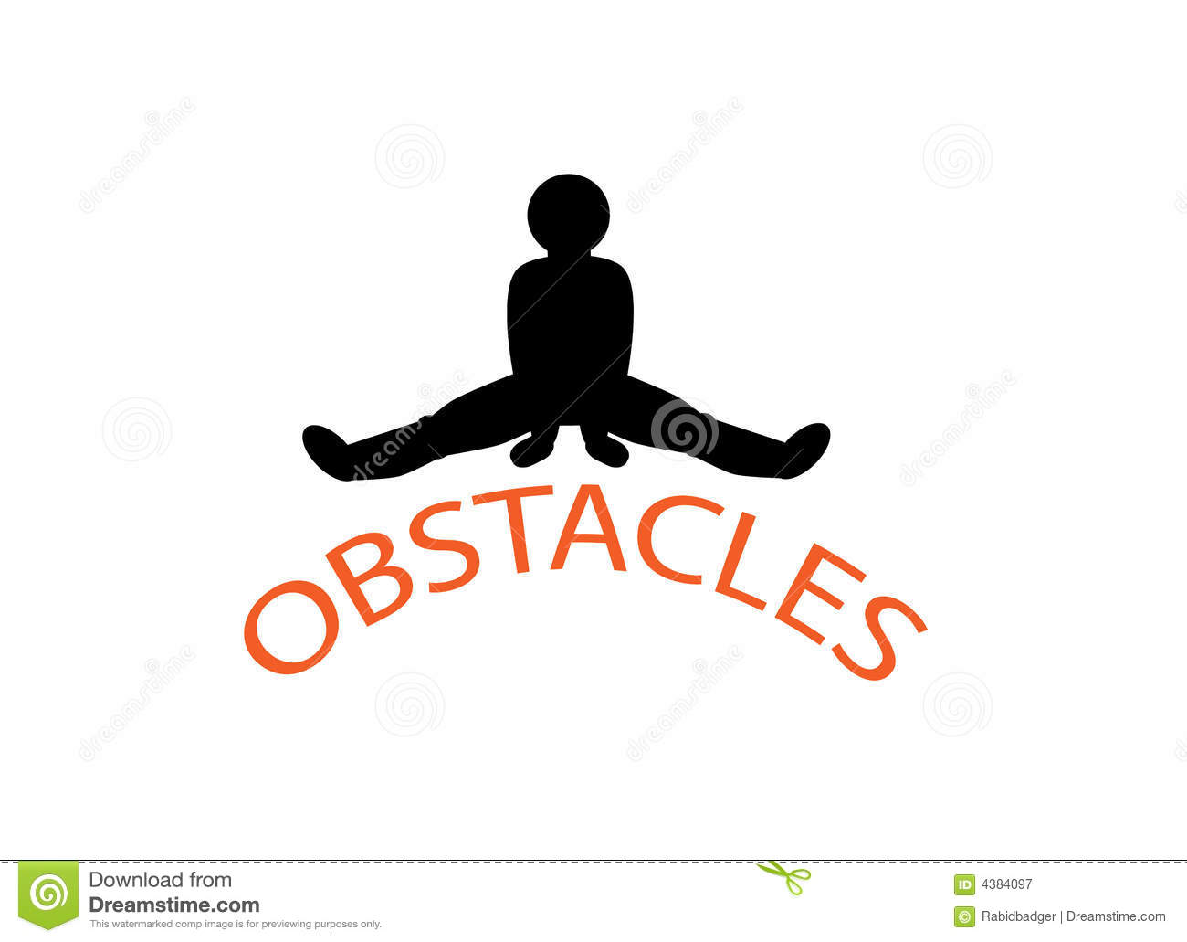 Overcoming Obstacles Stock Vector Illustration Of Defeat