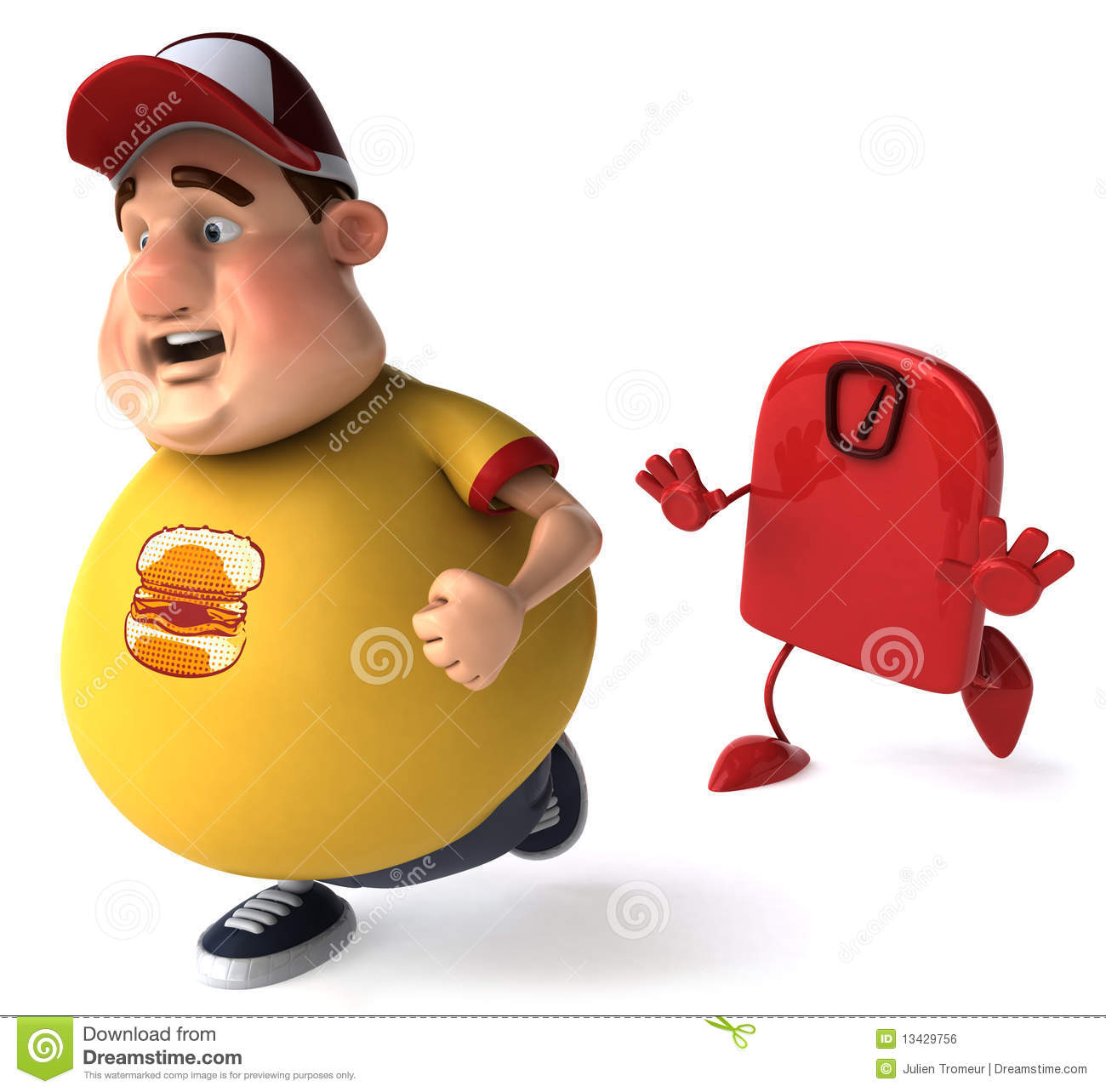 Overweight Kid Stock Illustration Image Of Obese
