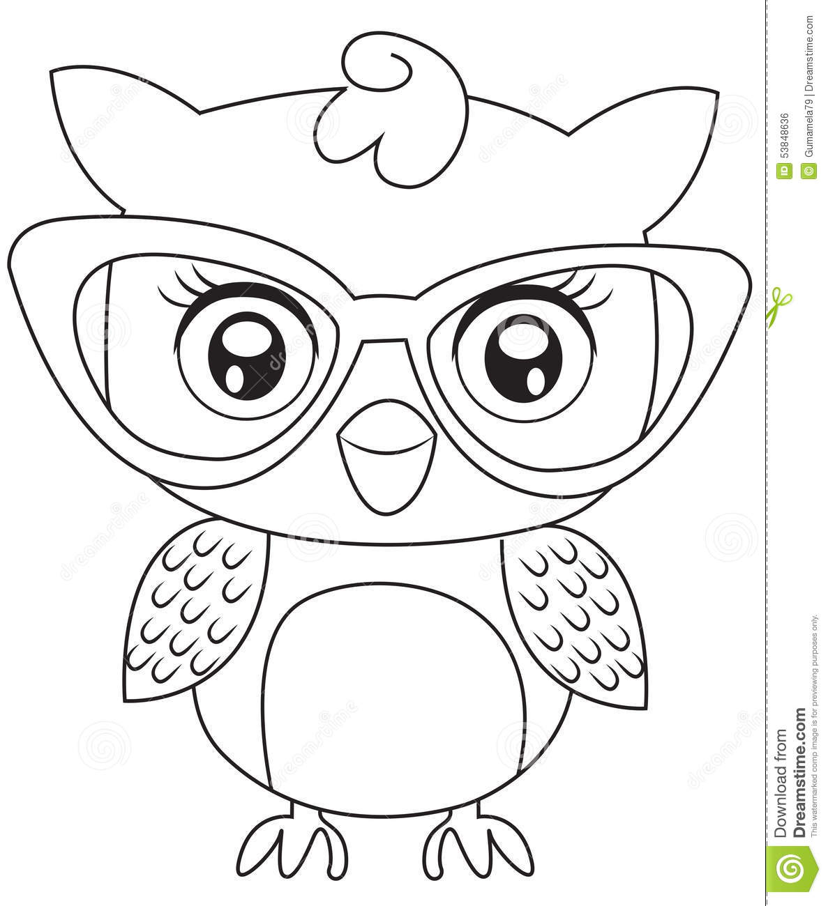 owl with eyeglasses coloring page useful as coloring book for kids