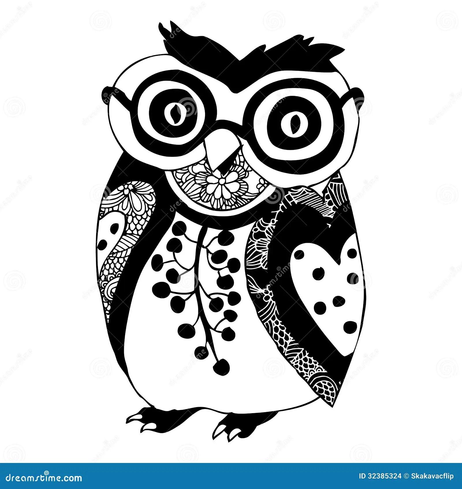 Owl Illustration Stock Images