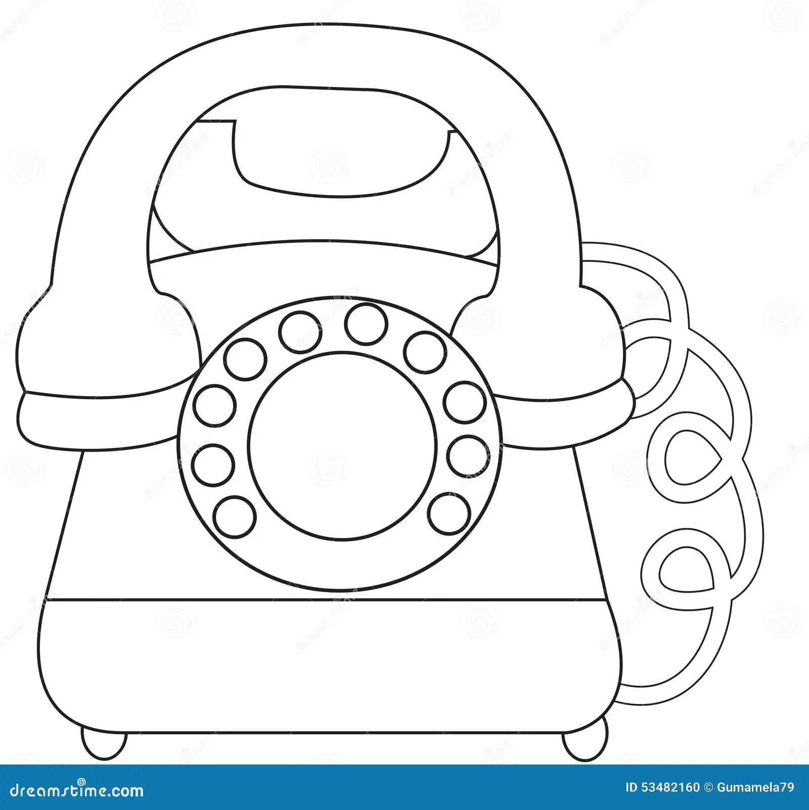 Pagina Da Coloracao Do Telefone Ilustracao Stock