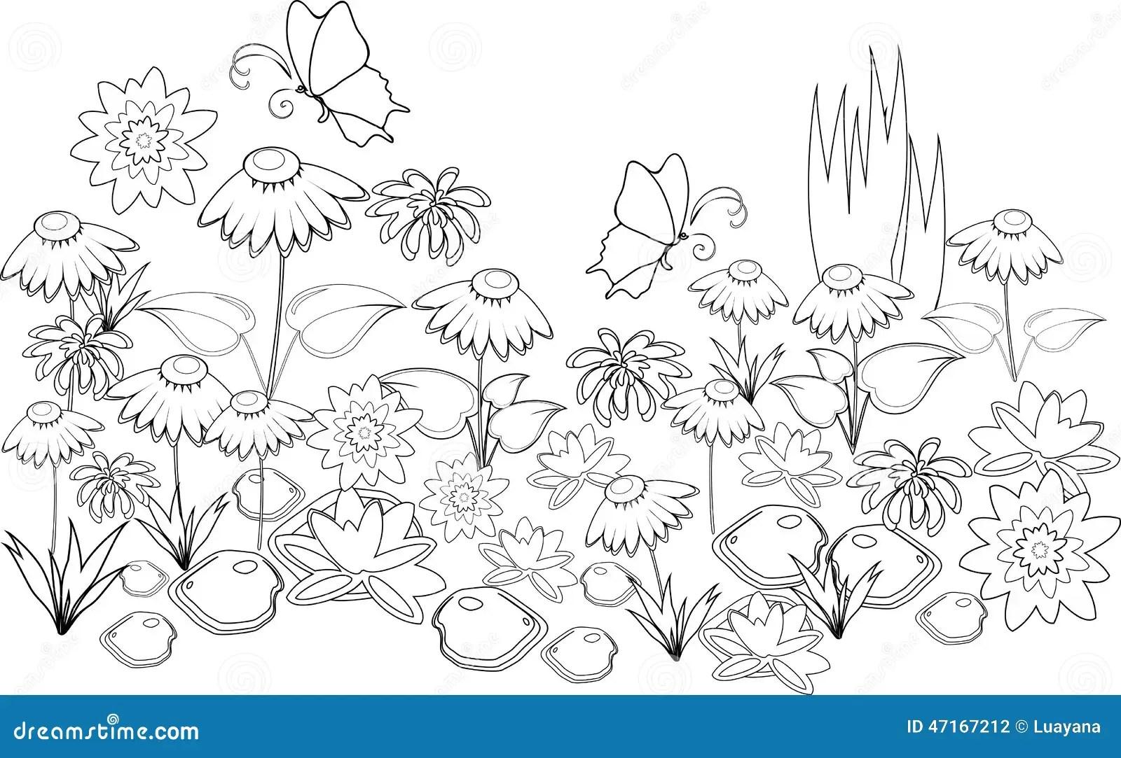 Pagina Que Colorea Ilustracion Del Vector Ilustracion De