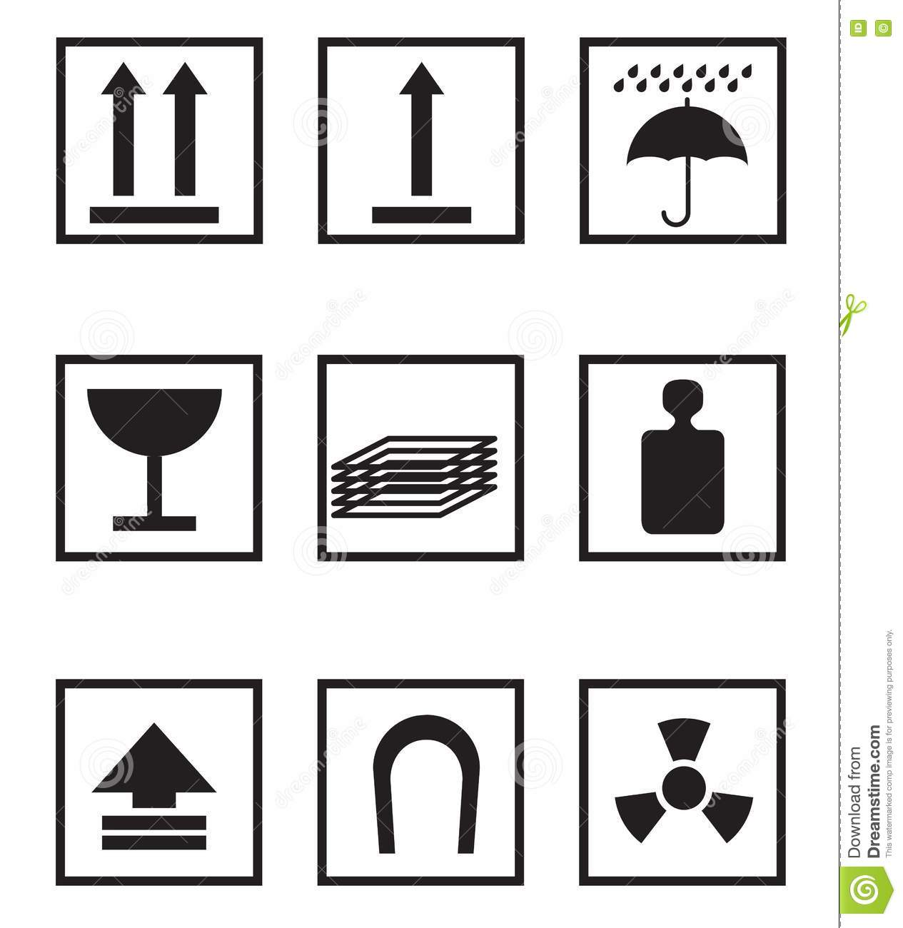 Package Symbols Royalty Free Stock Photography