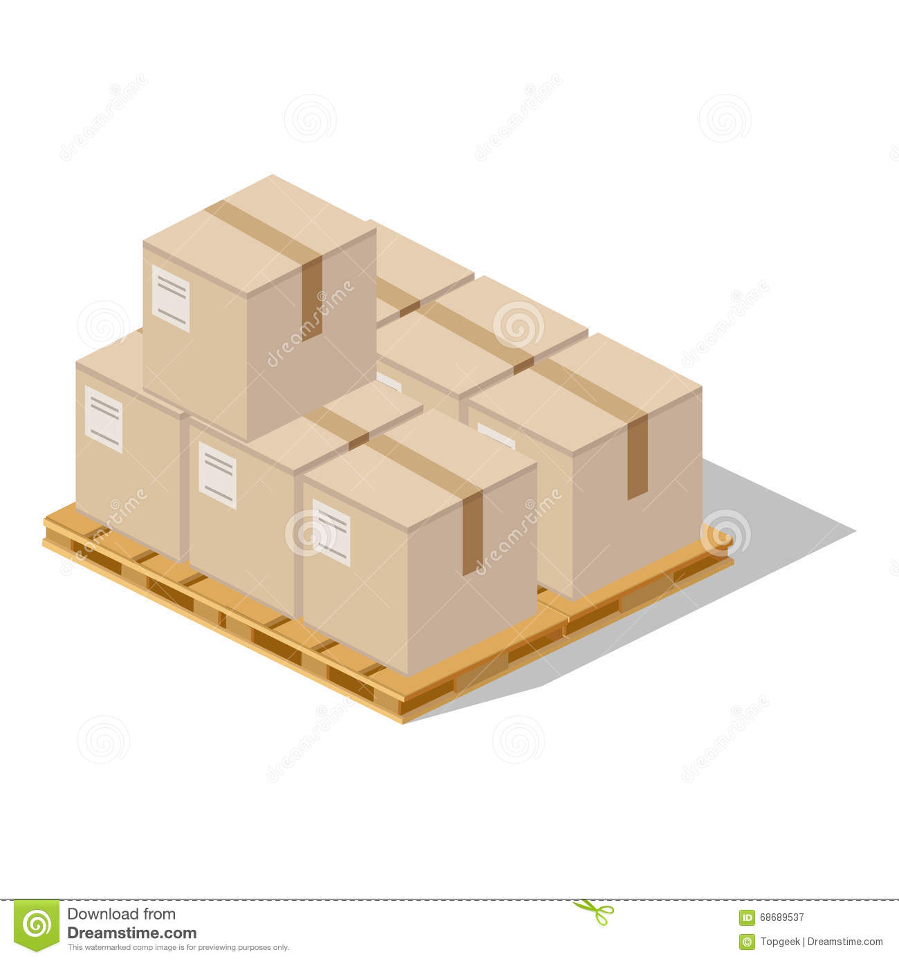 Packing Product Icon Design Style Stock Vector Image
