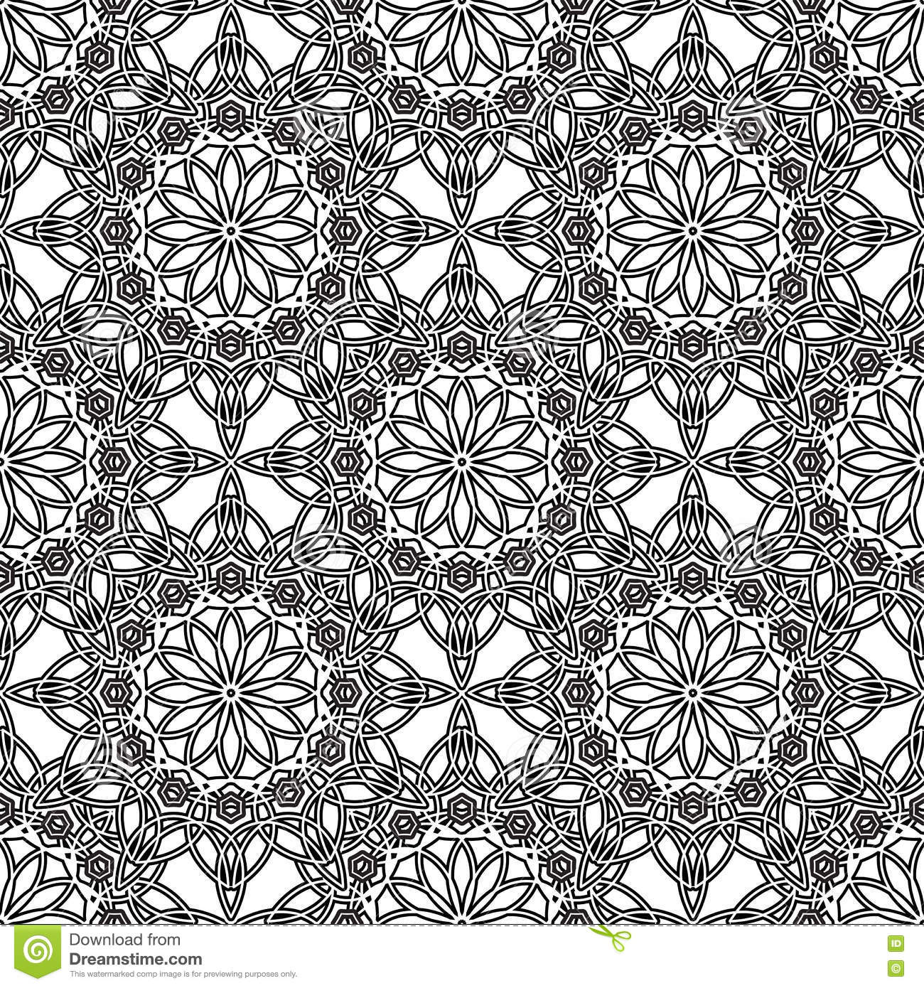 Page Coloring Pattern With Circular Mandala Outline