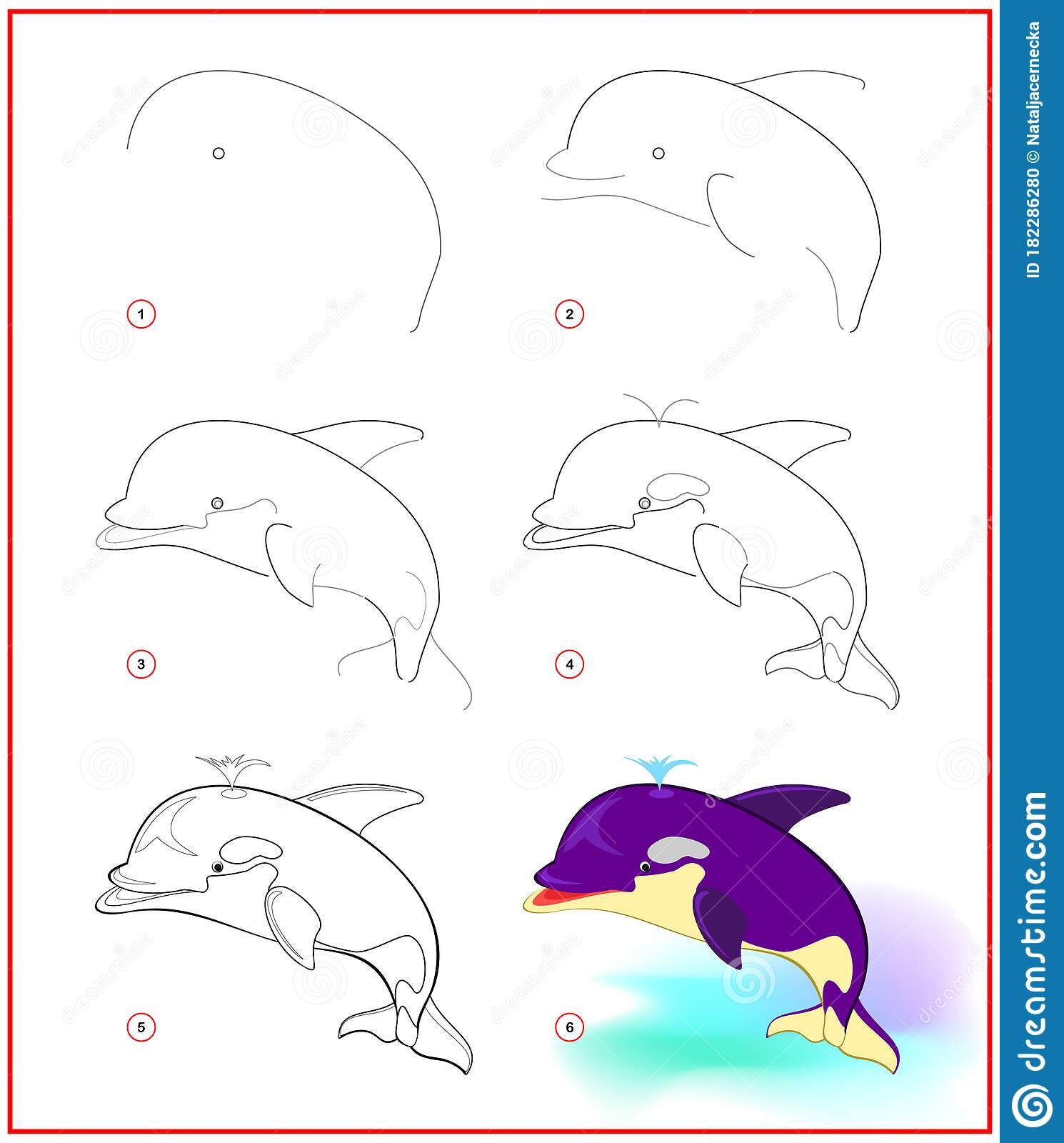 Page Shows How To Learn To Draw Step By Step Cute Killer