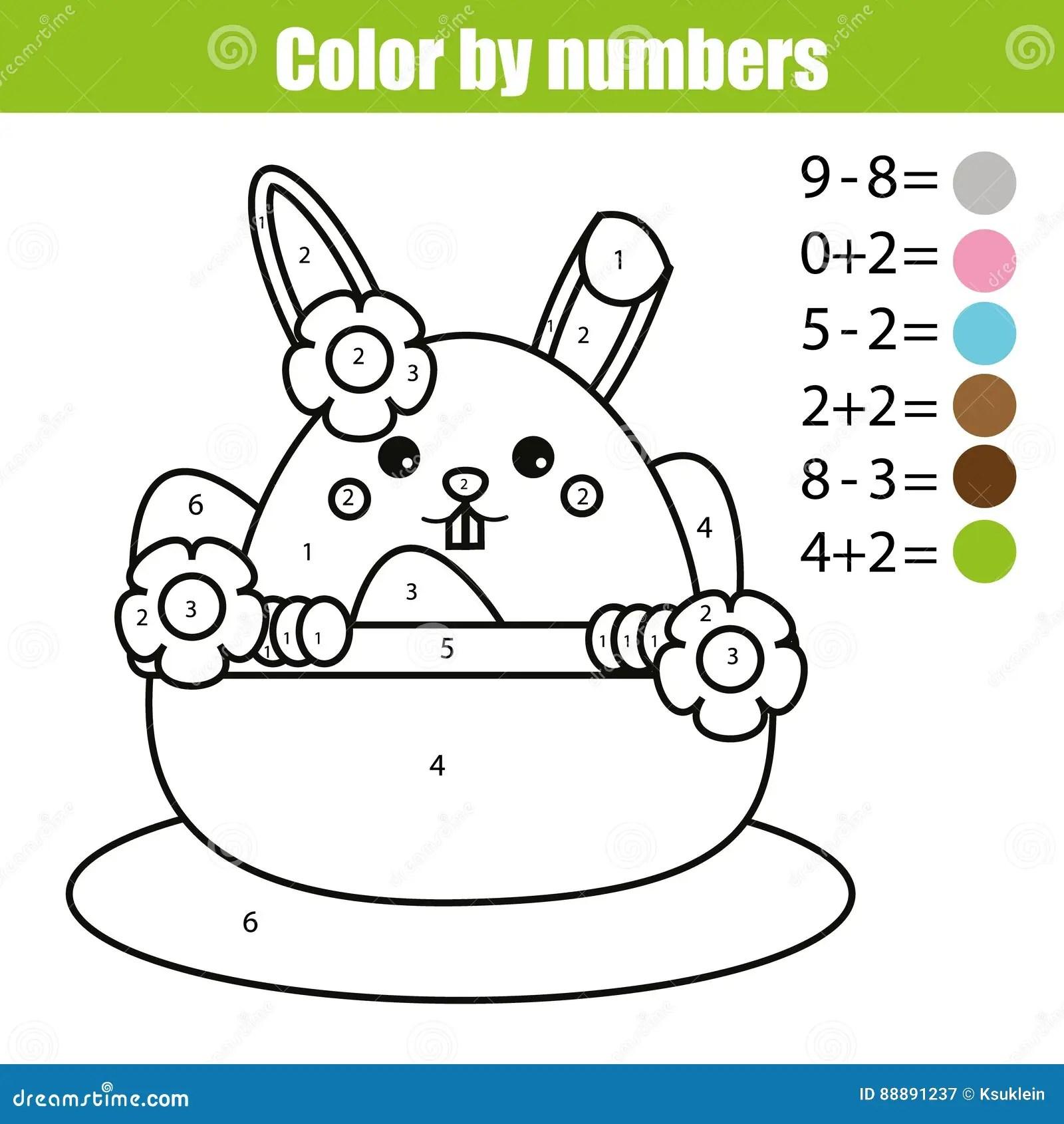 Pagina Di Coloritura Con Il Carattere Del Coniglietto Di