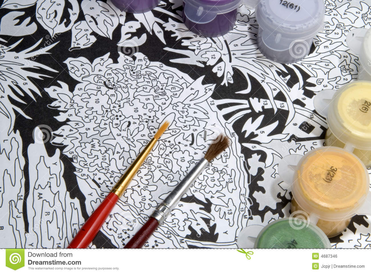 Painting By Numbers Royalty Free Stock Image