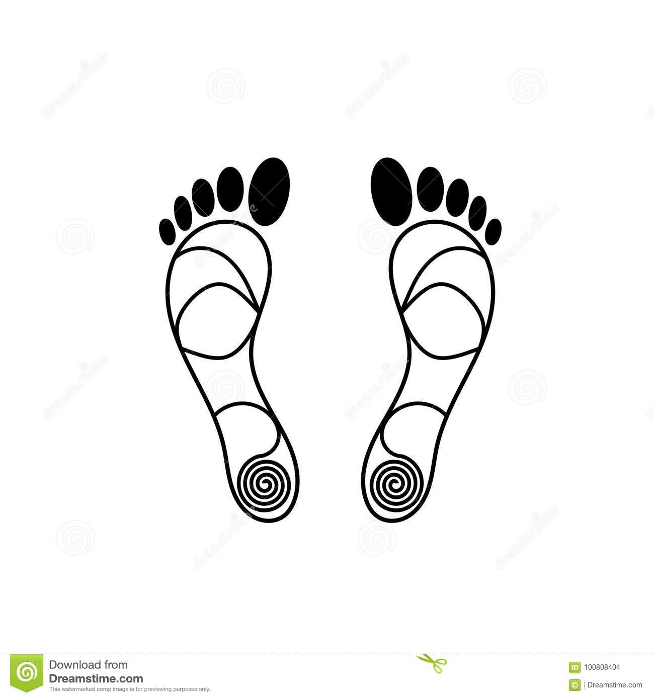 Footprints Into The Distance Royalty Free Stock