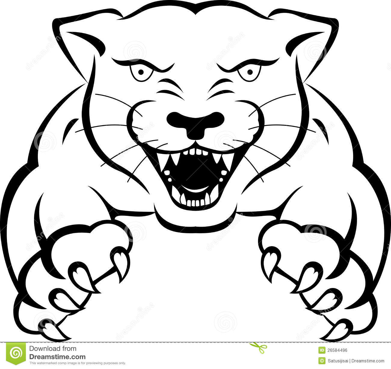 Panther Tattoo Royalty Free Stock Image