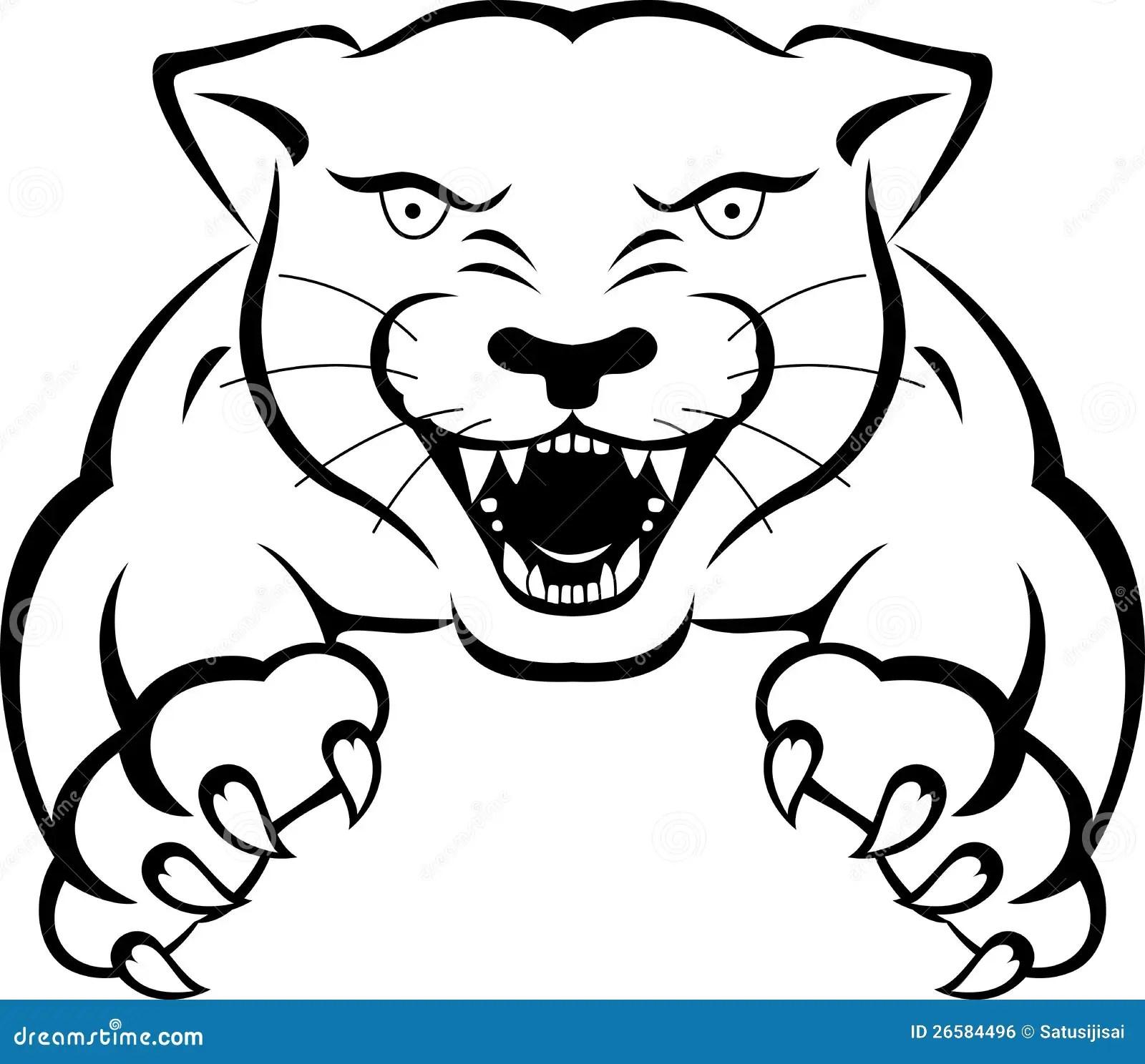 Panther Tattoo Stock Illustration Illustration Of Jumping