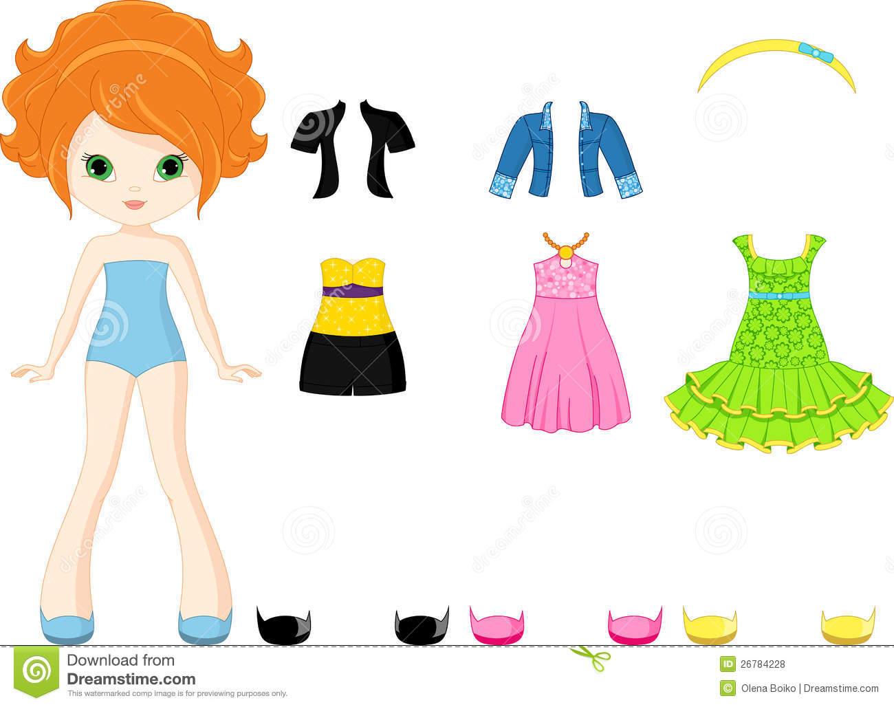 Paper Doll Stock Vector Illustration Of Clothing Jacket