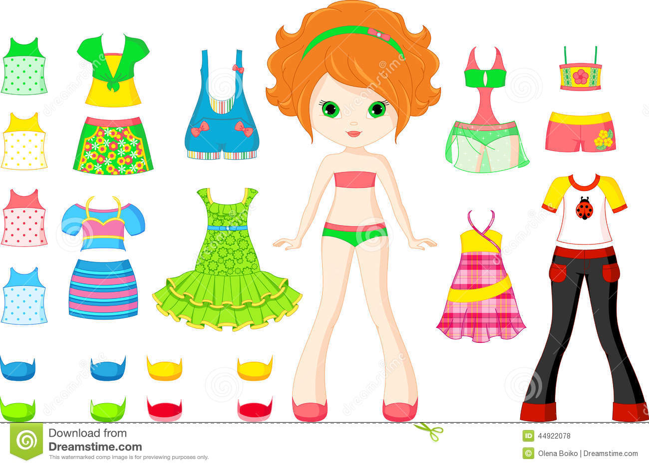 Paper Doll Stock Vector Illustration Of Background Color