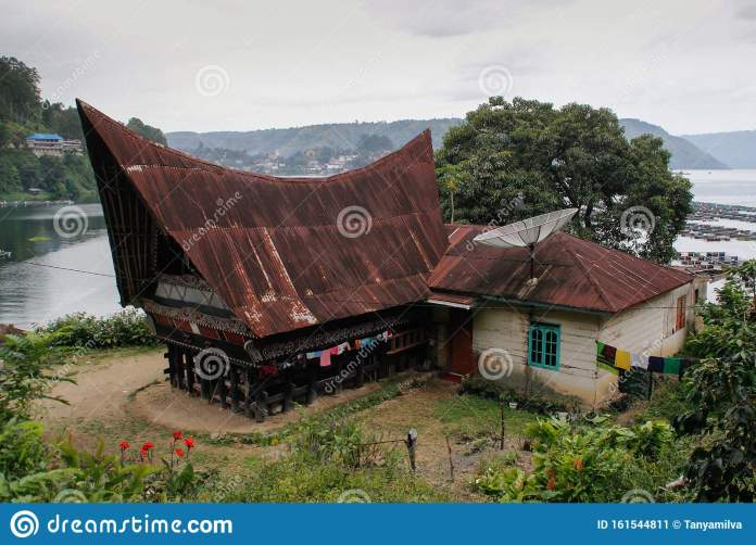 Unusual Traditional Houses With Boat Roofs Of The Batak People On The Island Of Sumatra Indonesia The Traditional Architecture O Stock Image Image Of Home House 161544811