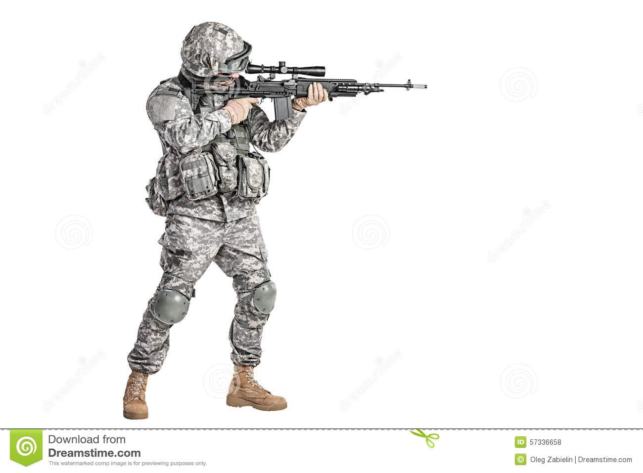 Paratrooper Airborne Infantry Stock Photo