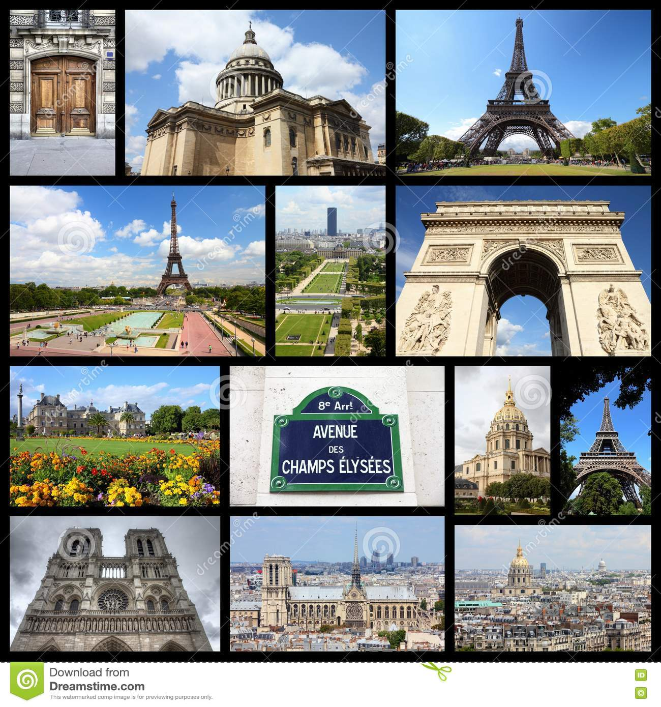 Paris Collage Stock Image Image Of Dame Image