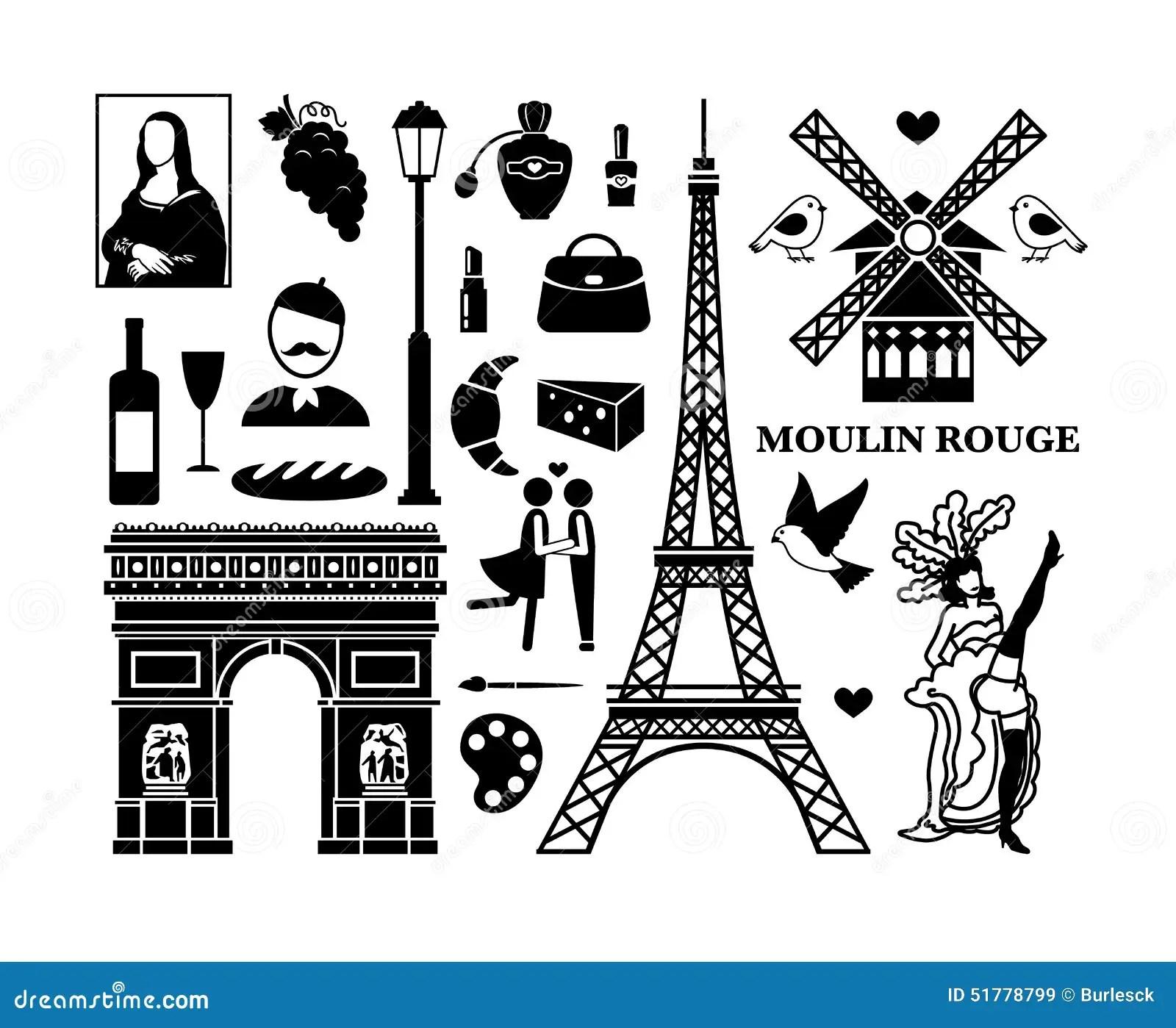 Paris Icons Stock Vector