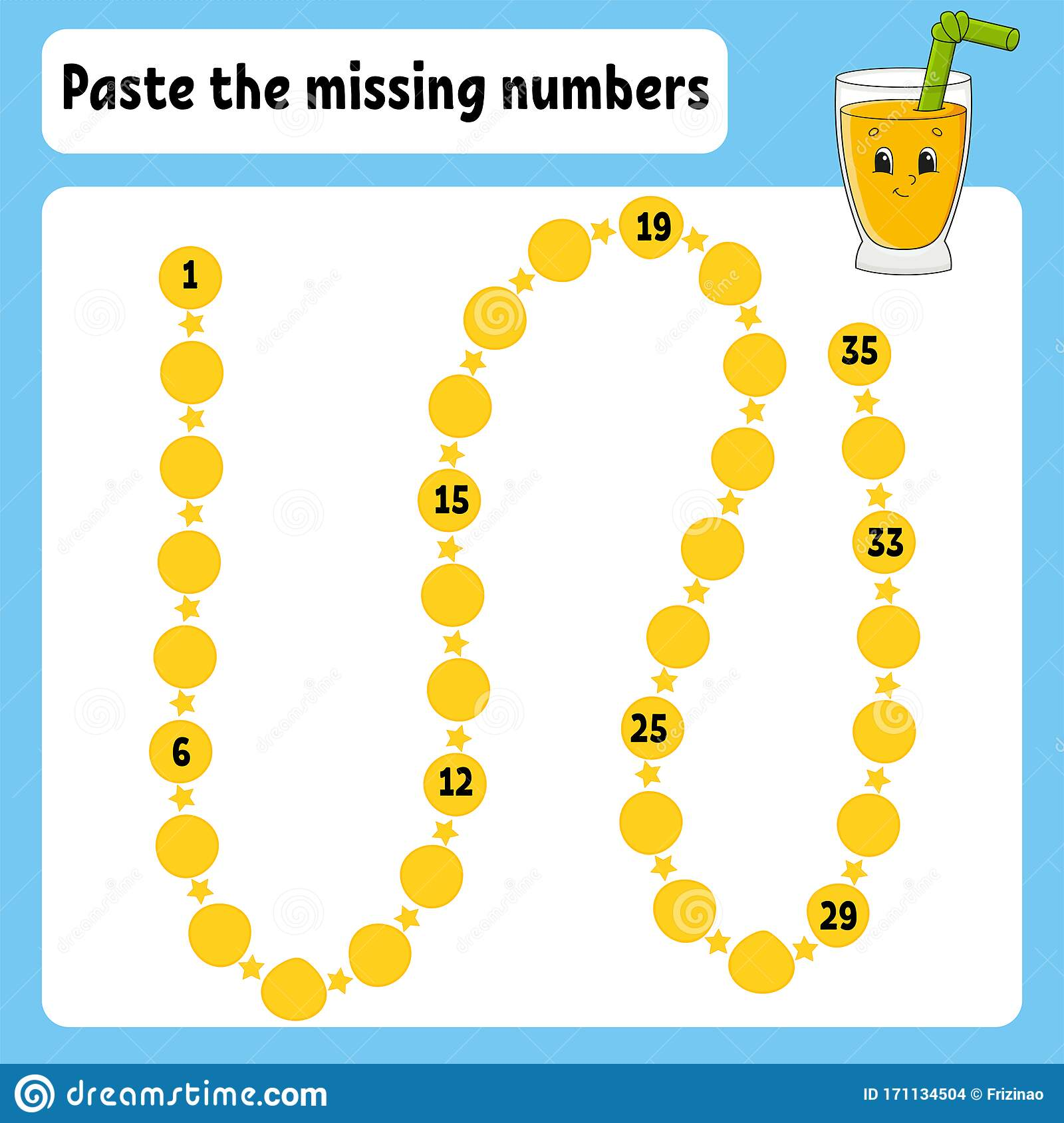 Paste The Missing Numbers Handwriting Practice Learning