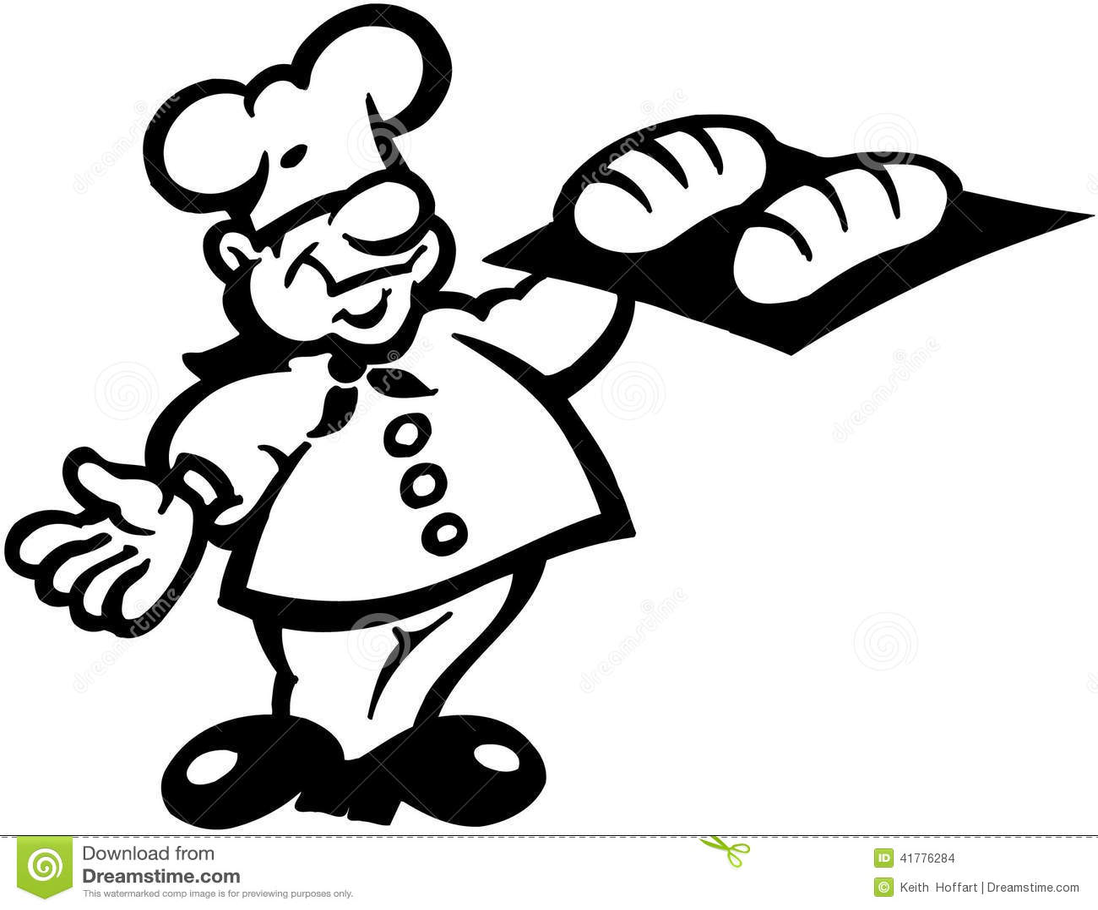 Pastry Chef Cartoon Vector Clipart Stock Vector
