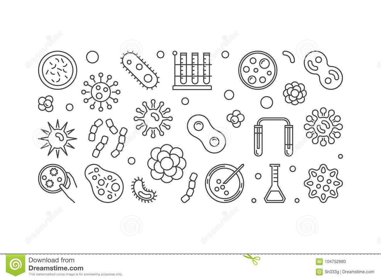 Simple Virus Diagram Cartoon Vector