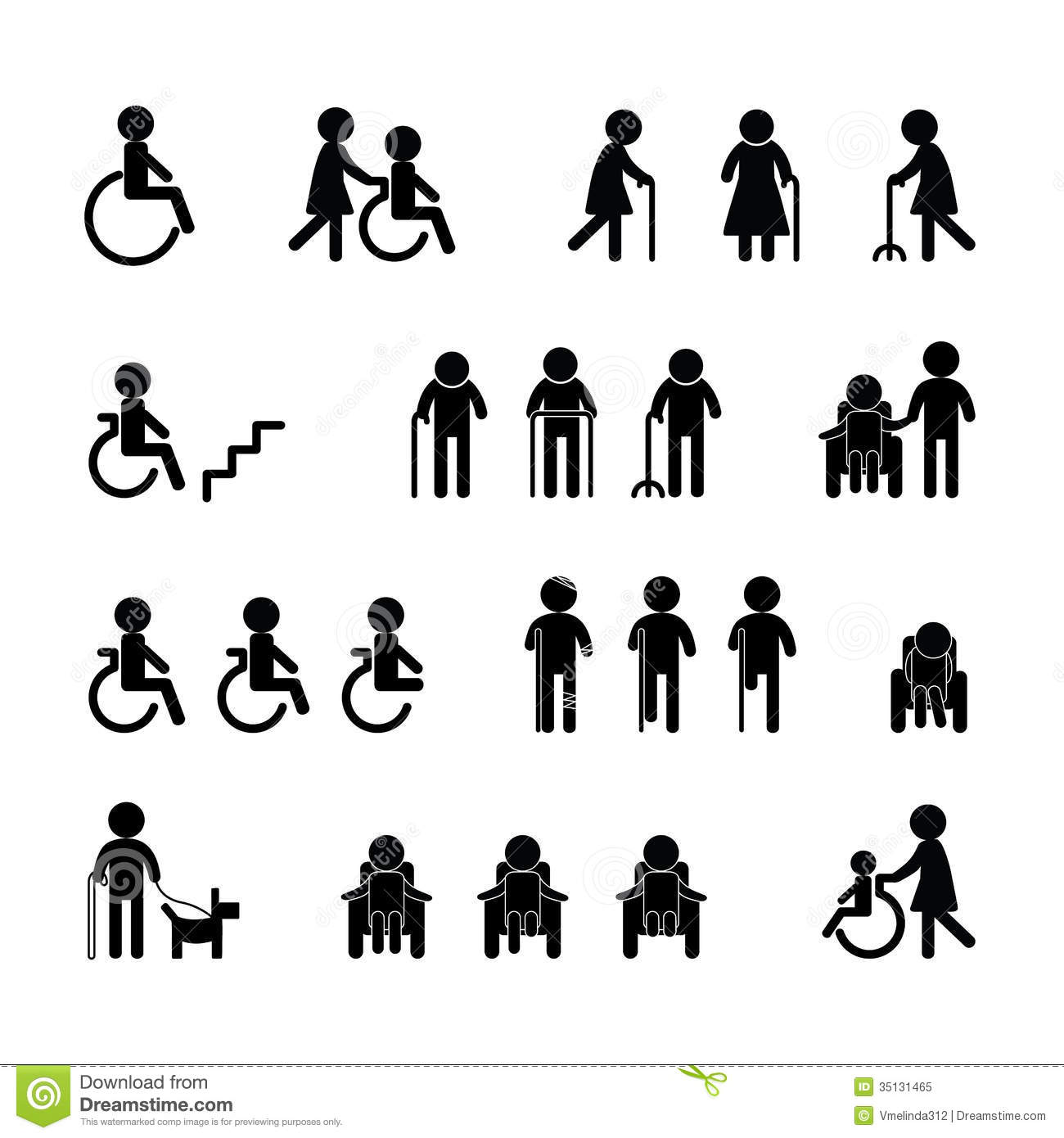 Patient Icon Set Stock Vector Illustration Of Drawing